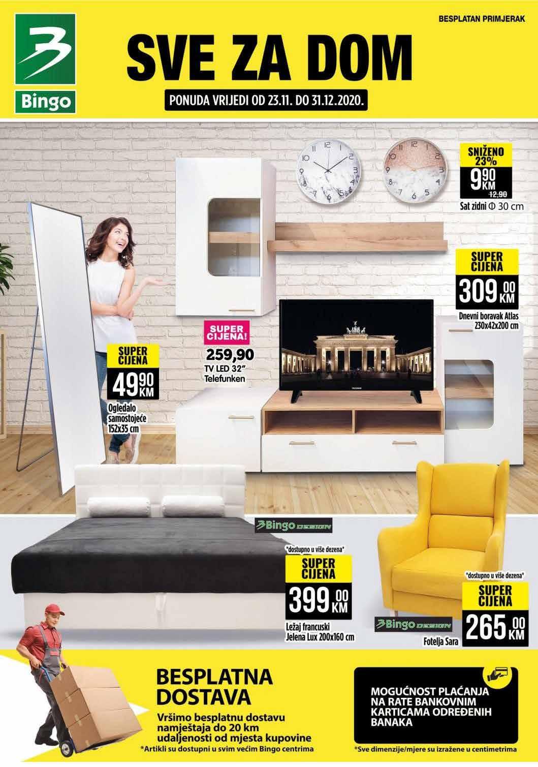 BINGO Katalog BINGO Akcija I SVE ZA DOM 23.11 31.12.2020. Page 01