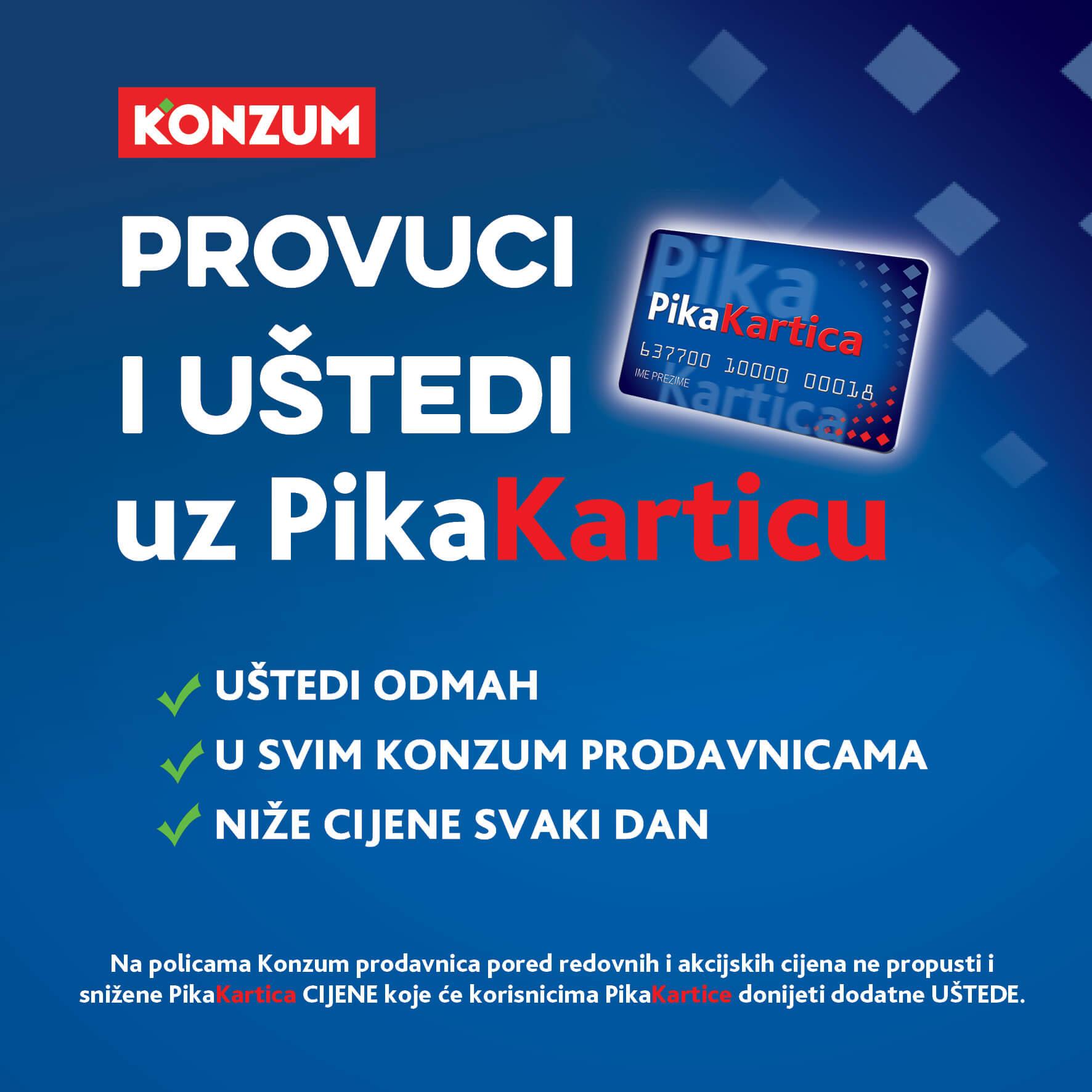 Konzum Katalog i Akcija Provuci i Ustedi uz PIKA Karticu 01.12.2020. 31.12.2020. Page 01