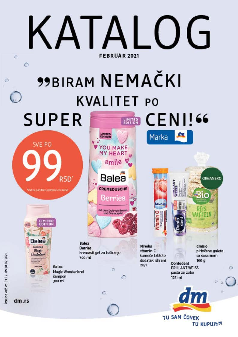 DM Katalog Srbija Februar 2021 Page 01