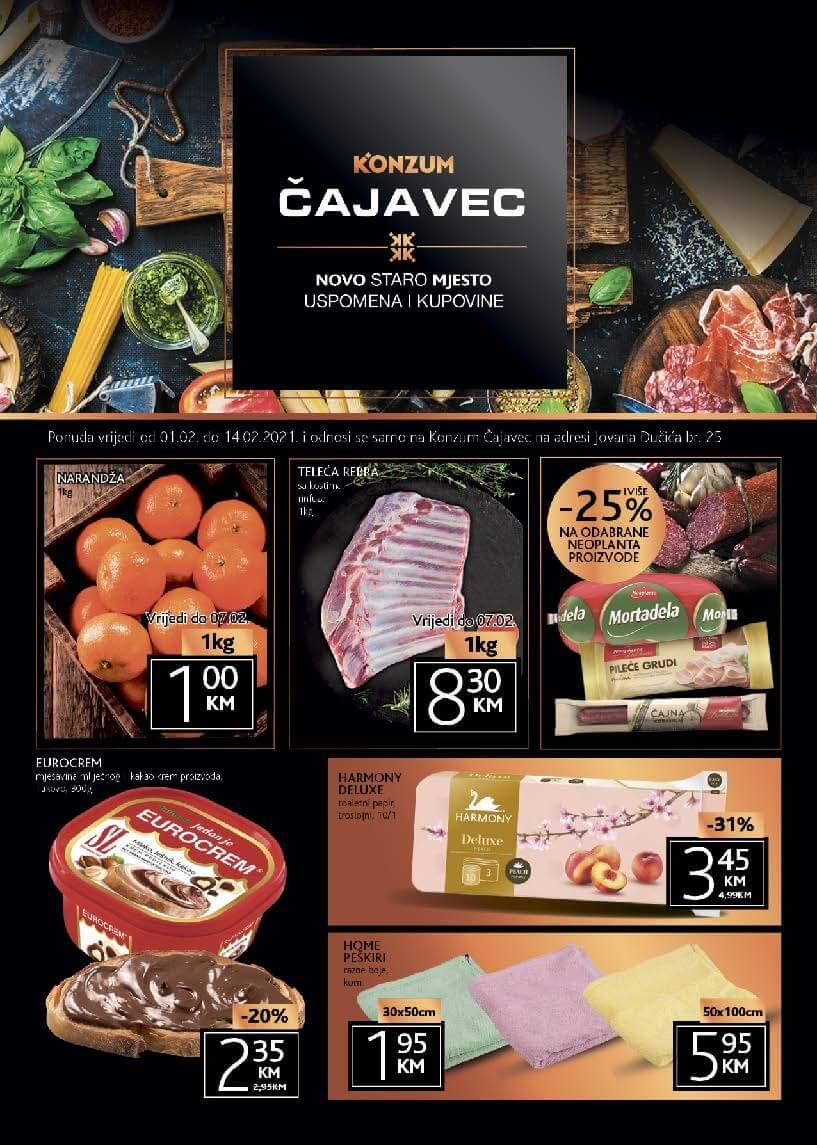 KONZUM Katalog Konzum Cajavec Banja Luka Februar 2021 01.02.2021. 14.02.2021. Page 1