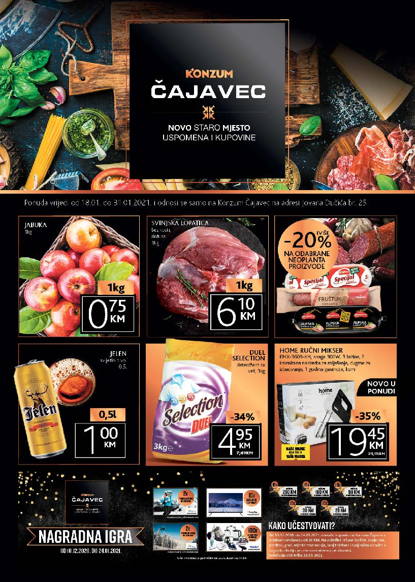 KONZUM Katalog Objekat Cajavec Banja Luka Januar 2021 18.01.2021. 31.01.20121. Page 1