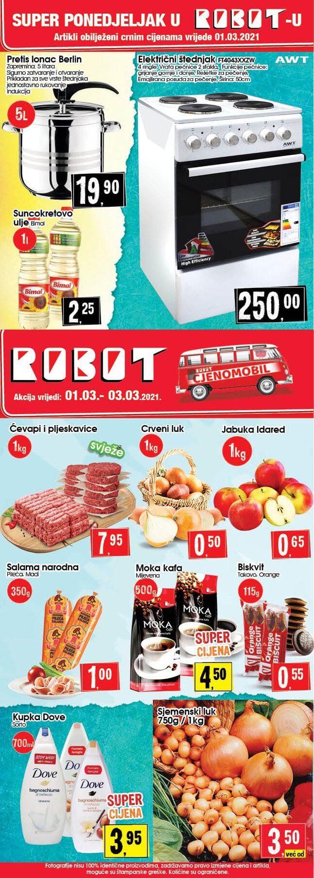 ROBOT Katalog Super akcija MART 2021 01.03.2021. 03.03.2021.