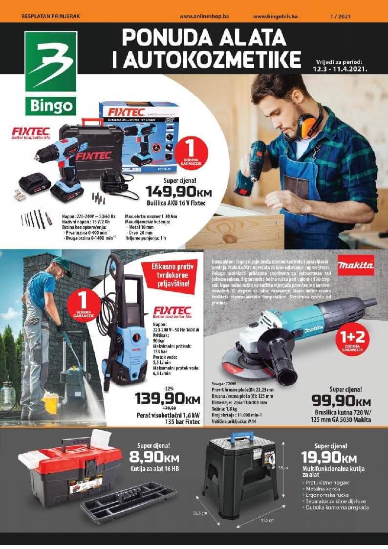 BINGO Katalog Ponuda alata i autokozmetike MART i APRIL 2021 11.03.2021. 12.04.2021. Page 1