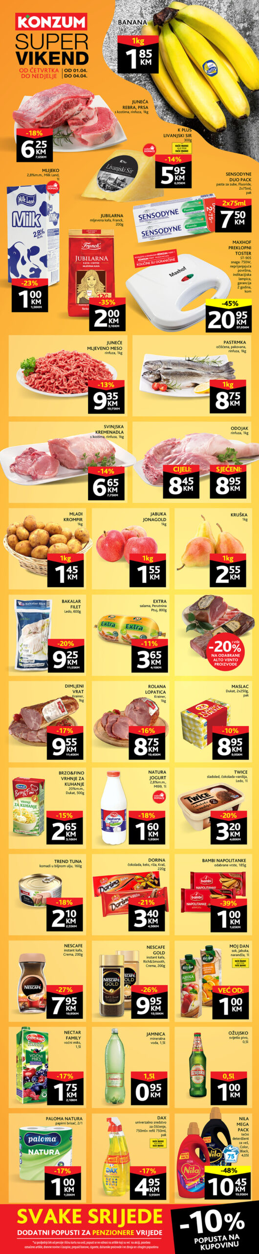 KONZUM Katalog Vikend akcija APRIL 2021 01.04.2021. 04.04.2021