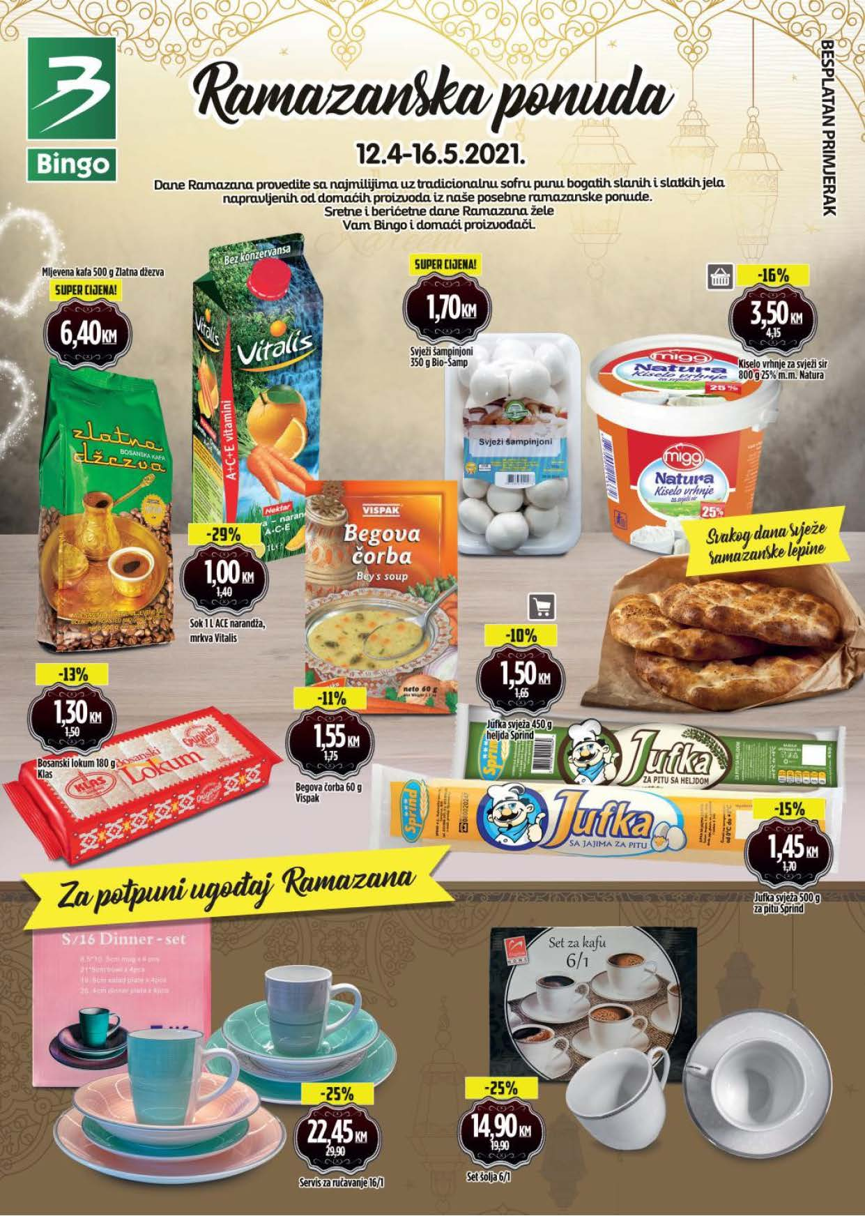 BINGO Katalog Ramazanska ponuda APRIL i MAJ 2021 12.04.2021. 16.05.2021. Page 1