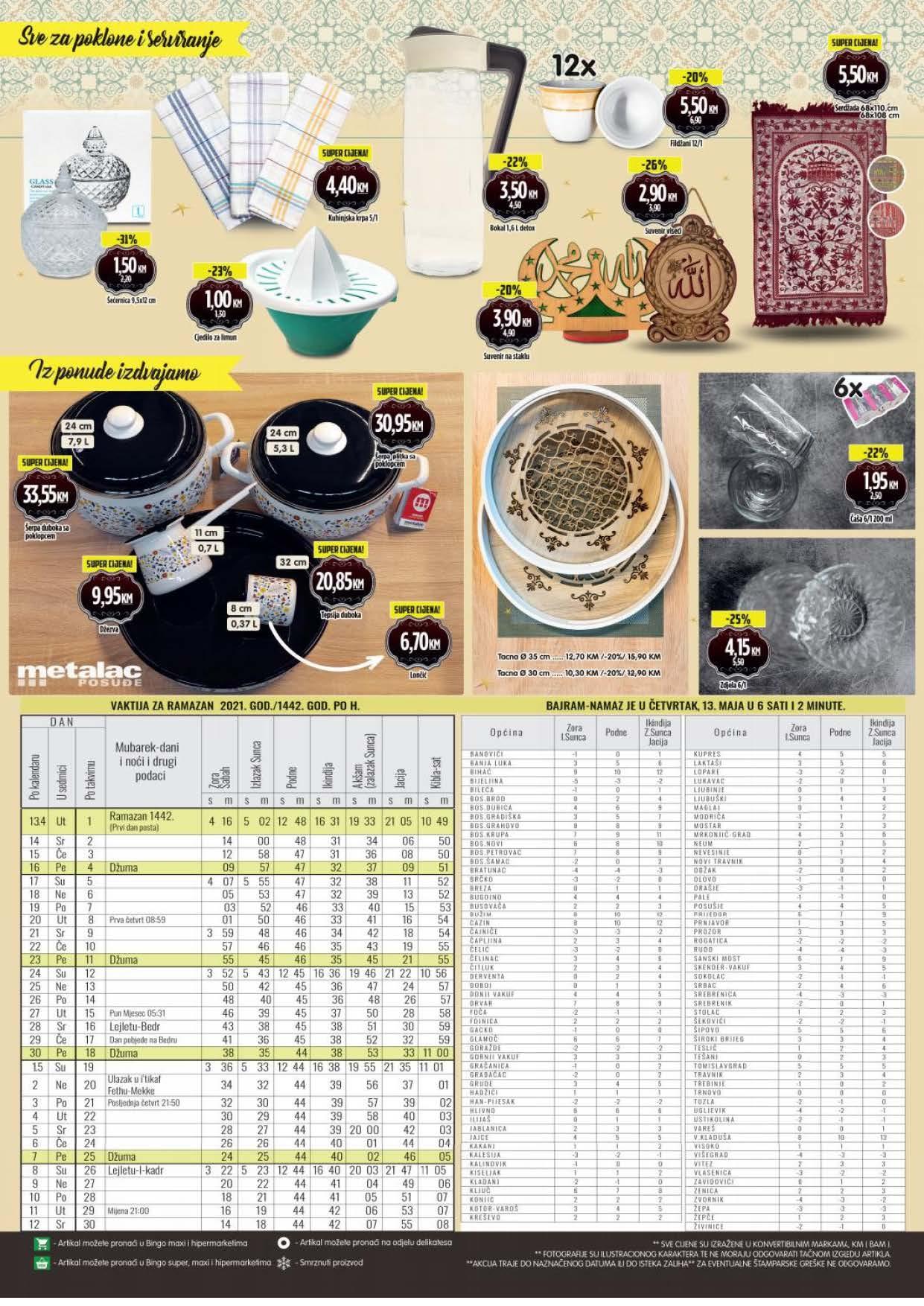 BINGO Katalog Ramazanska ponuda APRIL i MAJ 2021 12.04.2021. 16.05.2021. Page 4