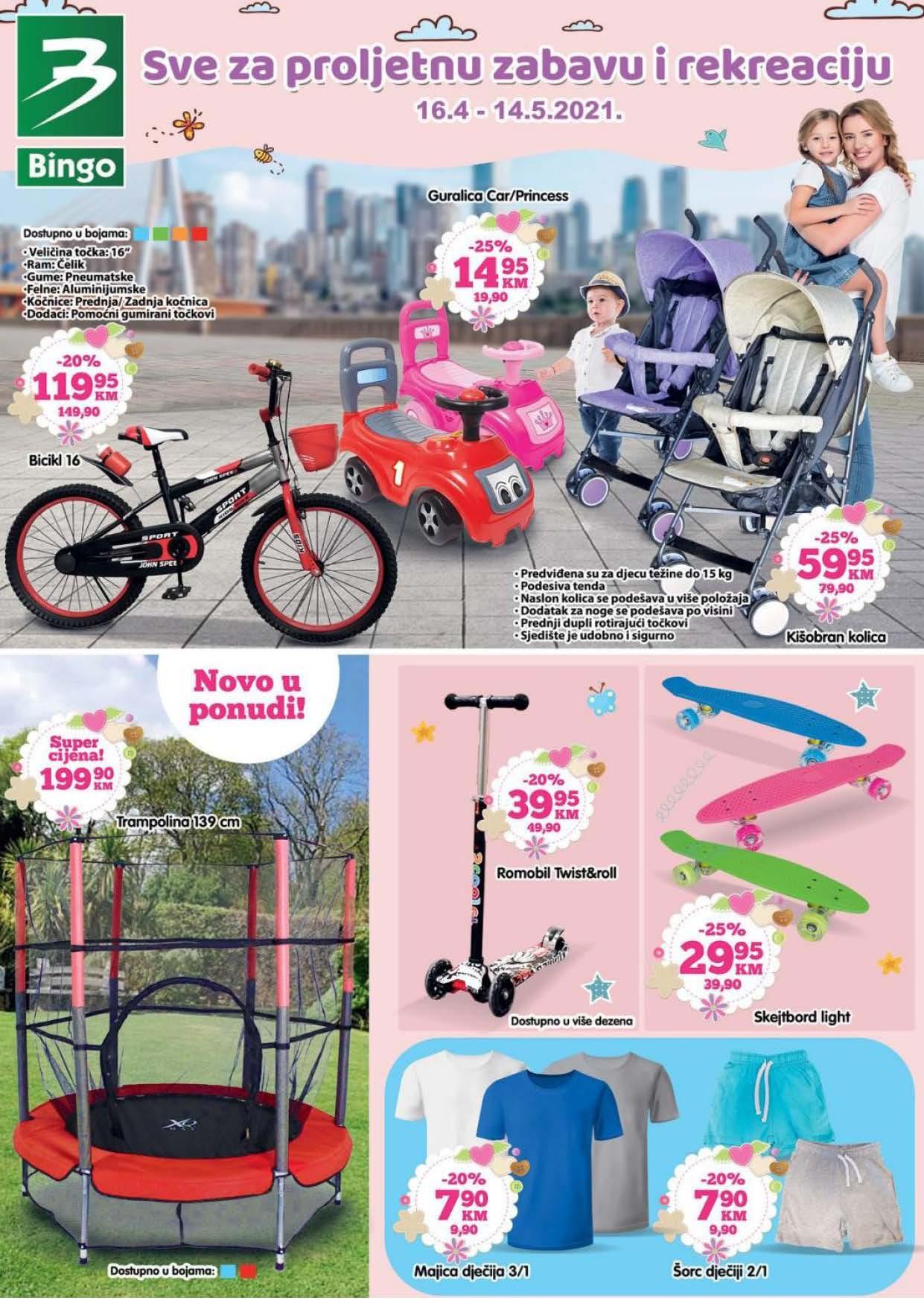 BINGO Katalog Sve za proljetnu zabavu i rekreaciju April i MAJ 2021 16.04. 14.05.2021. Page 01