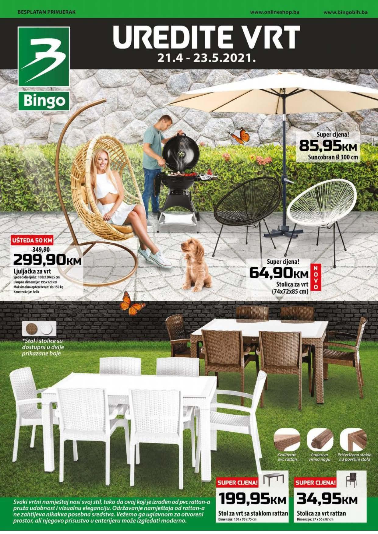 BINGO Katalog Uredite VRT APRIL I MAJ 2021 21.04.2021. 23.05.2021 Page 1 1