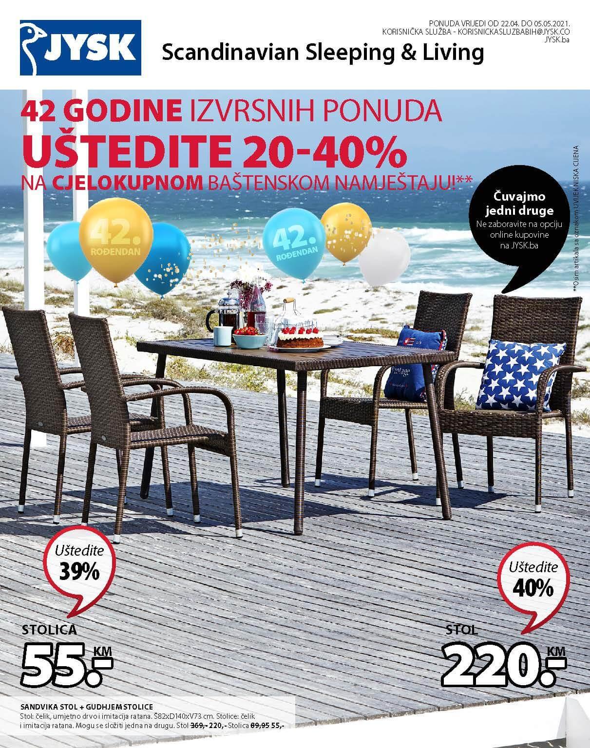 JYSK Katalog AKCIJA Super dani APRIL 2021 22.04.2021. 28.04.2021. Page 02 2