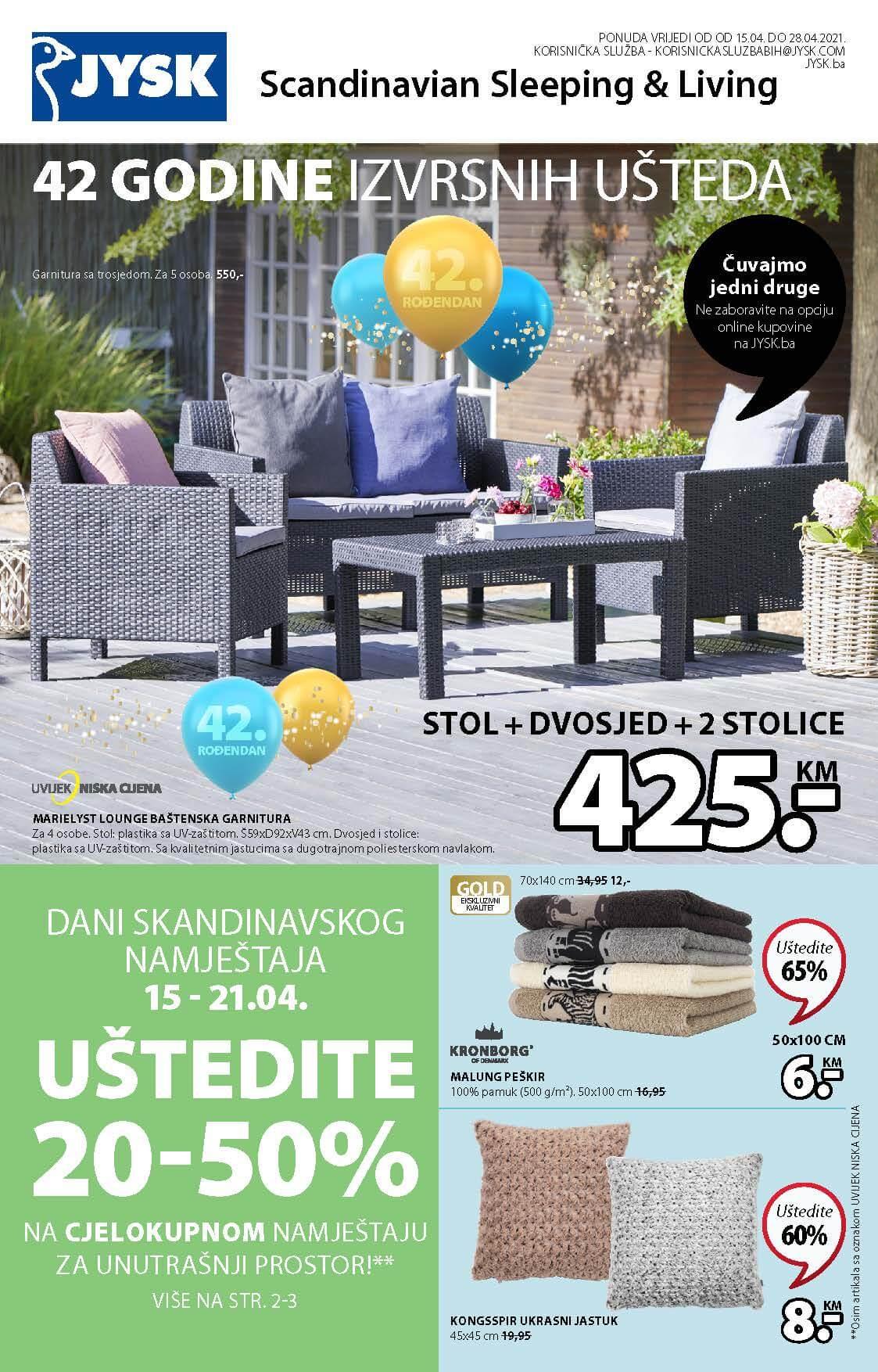 JYSK Katalog Akcijska ponuda APRIL 2021 15.04.2021. 28.04.2021. Page 02