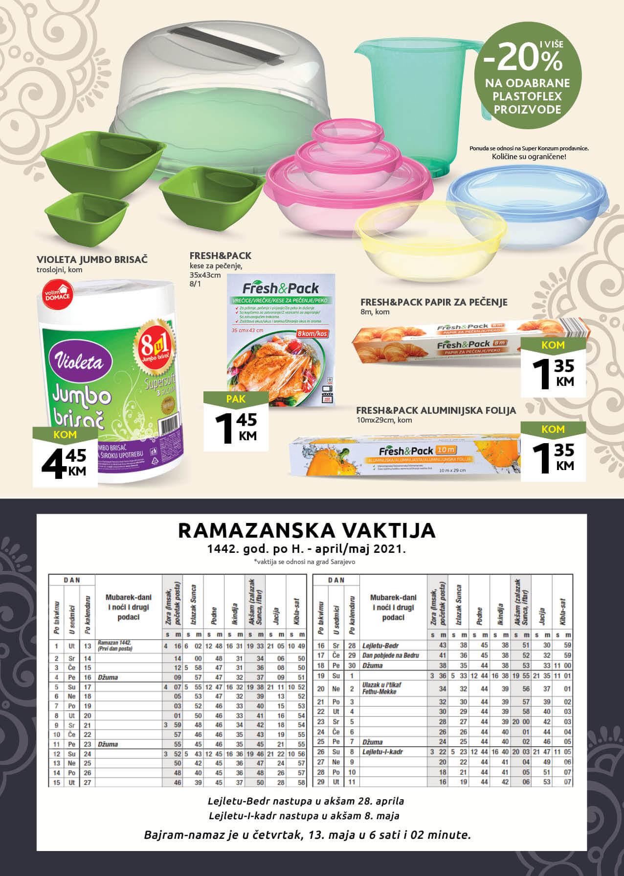 KONZUM Katalog Ramazanska sofra APRIL MAJ 2021 08.04.2021. 09.05.2021. Page 8