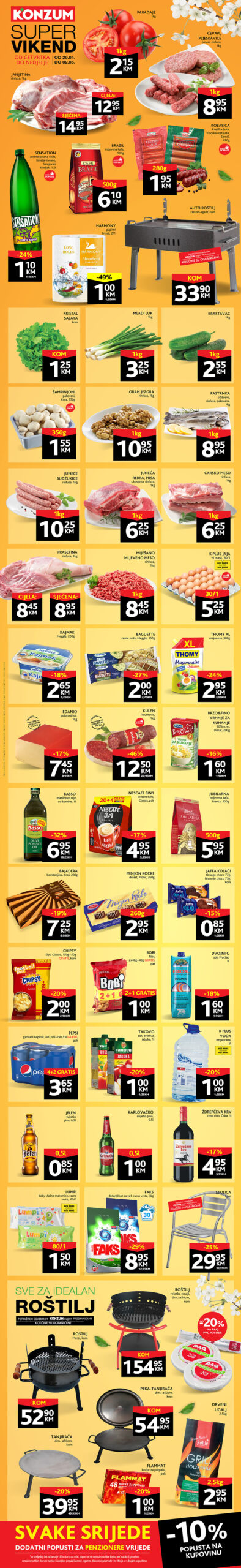KONZUM Katalog Vikend AKCIJA April i Maj 2021 29.04.2021. 02.05.2021