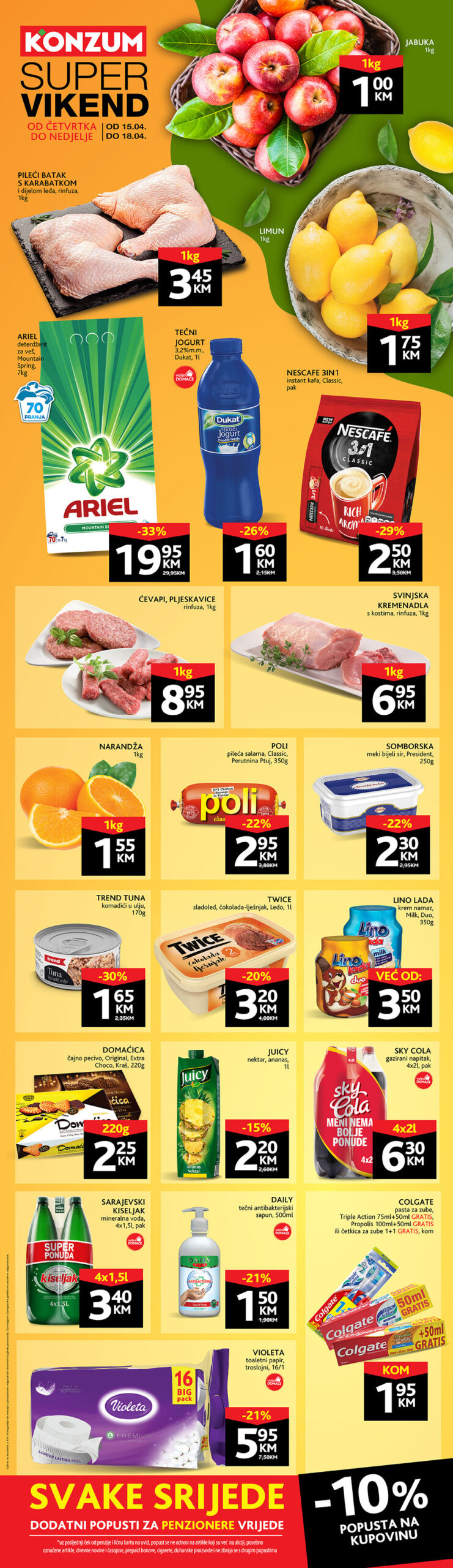 KONZUM Katalog Vikend ackija APRIL 2021 15.04.2021. 18.04.2021.