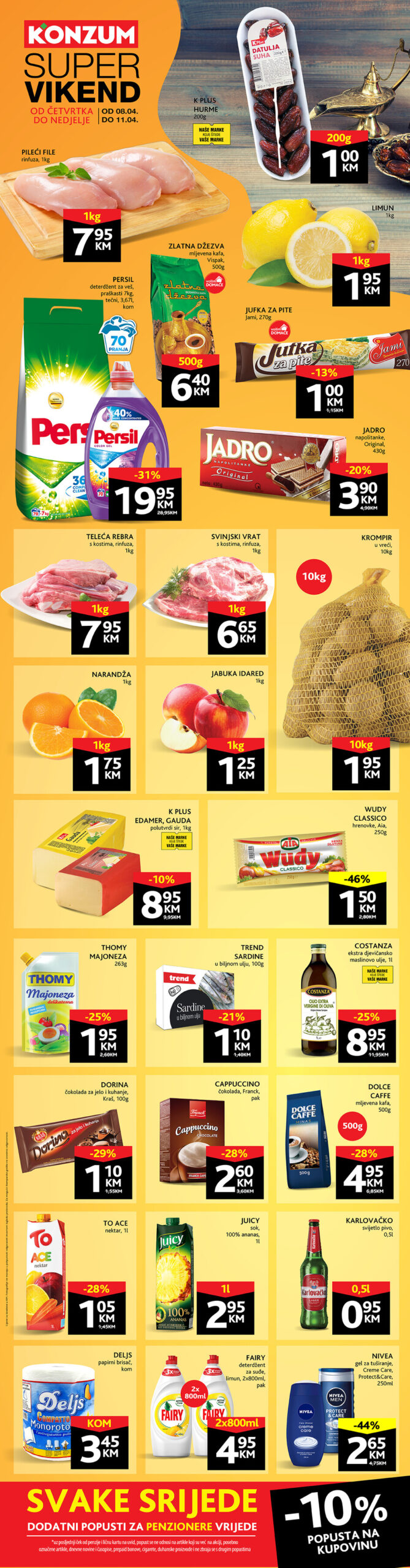 KONZUM Katalog Vikend akcija APRIL 2021 08.04.2021. 11.04.2021