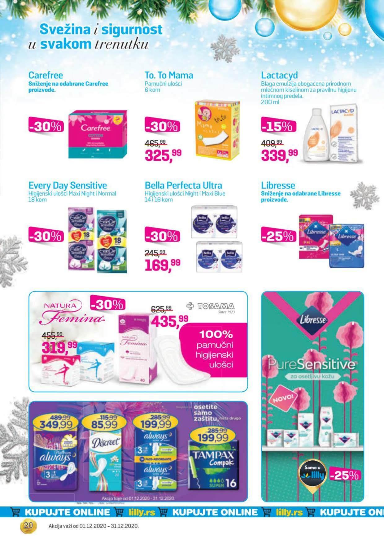 LILLY katalog LILLY ONLINE Akcija DECEMBAR 2020 01.12.2020. 31.12.2020. Page 20