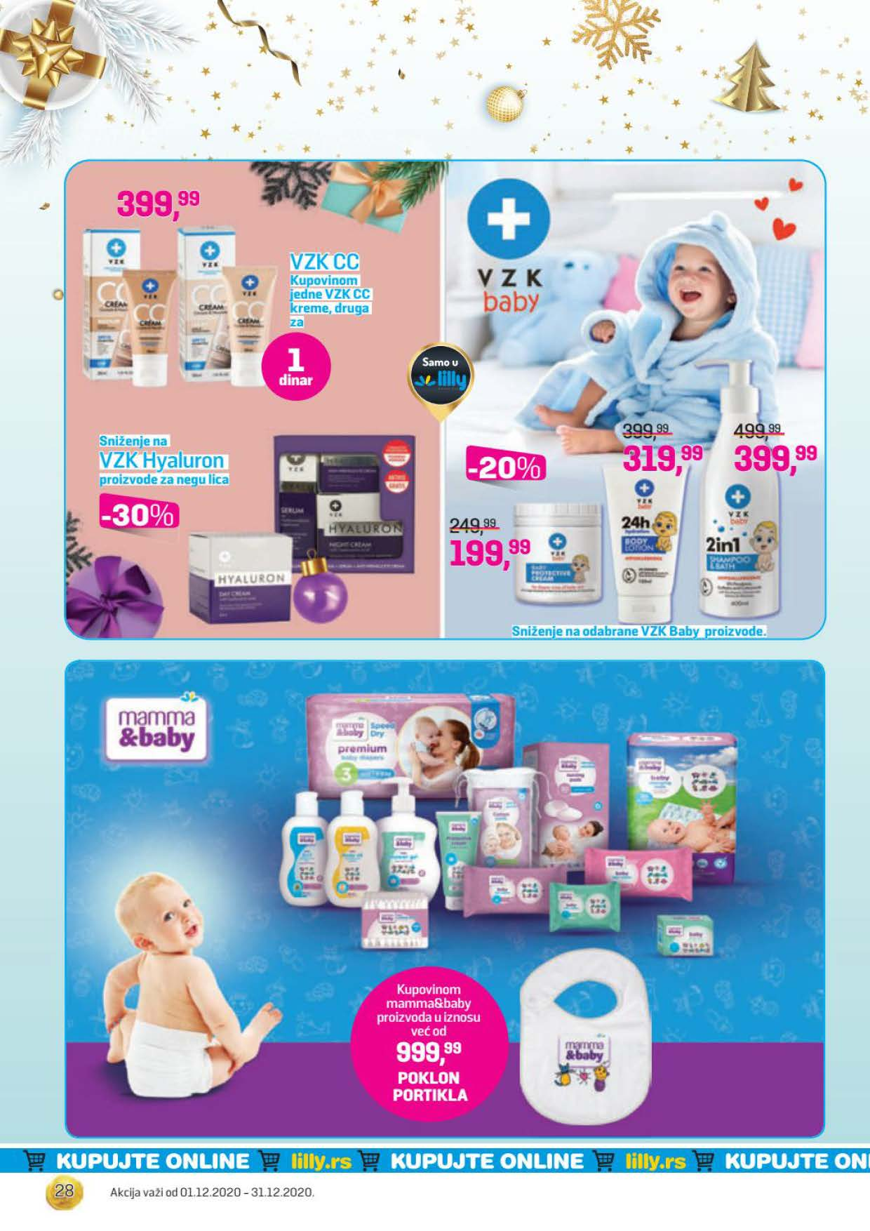 LILLY katalog LILLY ONLINE Akcija DECEMBAR 2020 01.12.2020. 31.12.2020. Page 28