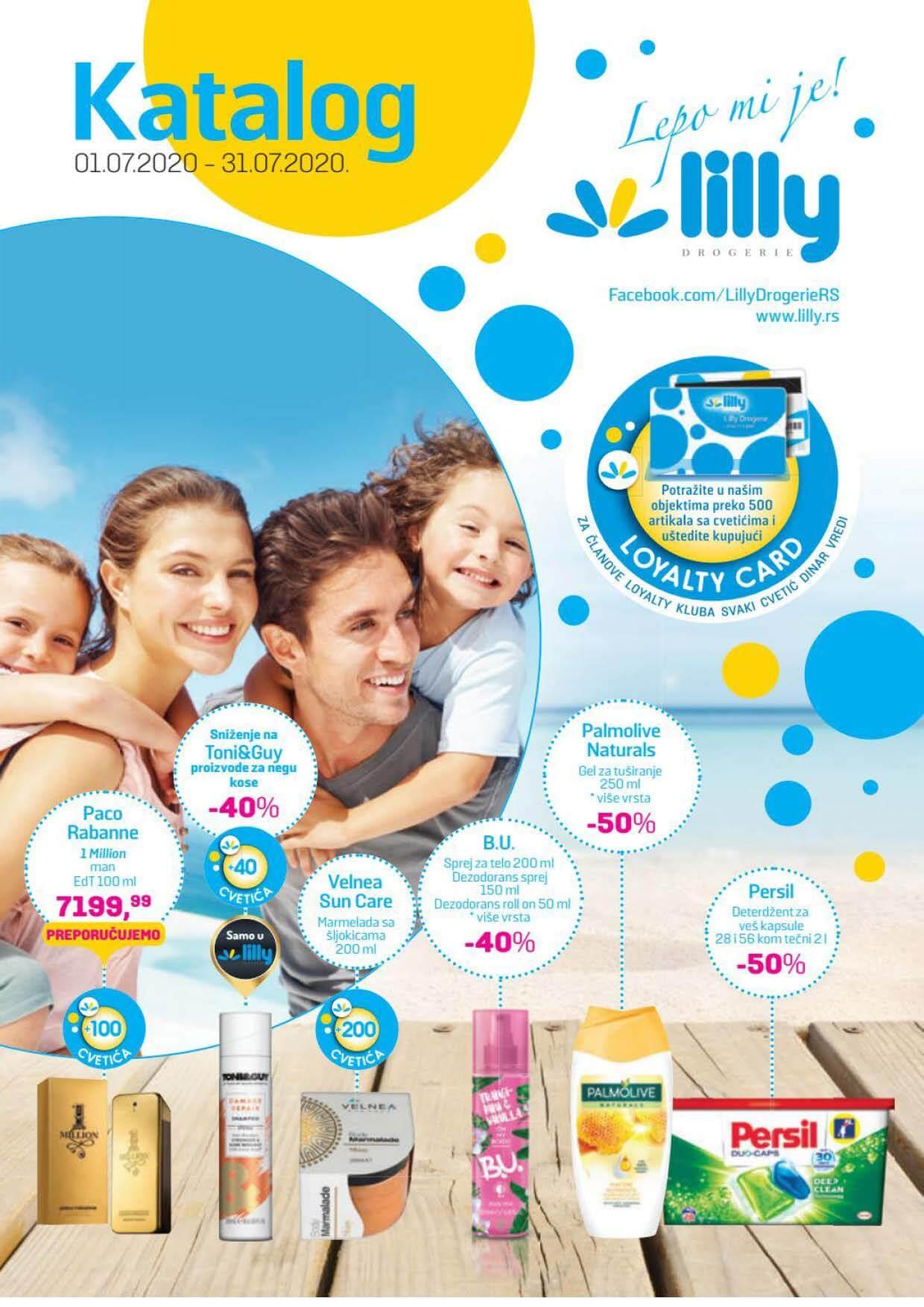 LILLY katalog LILLY ONLINE Akcija JUL 2020 01.07.2020. 31.07.2020. Page 01 1