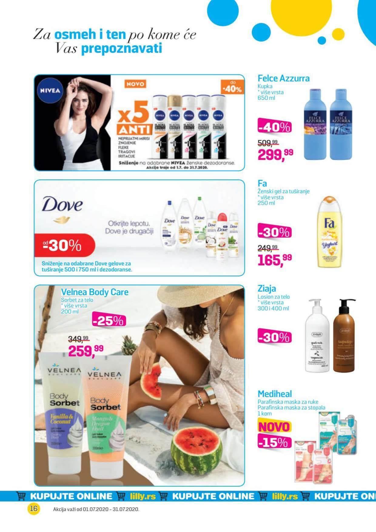 LILLY katalog LILLY ONLINE Akcija JUL 2020 01.07.2020. 31.07.2020. Page 16