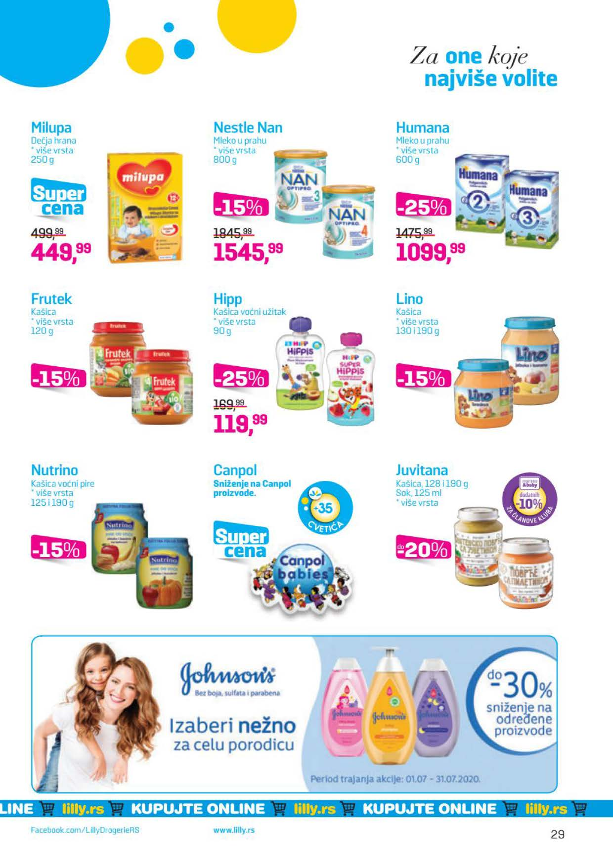 LILLY katalog LILLY ONLINE Akcija JUL 2020 01.07.2020. 31.07.2020. Page 29