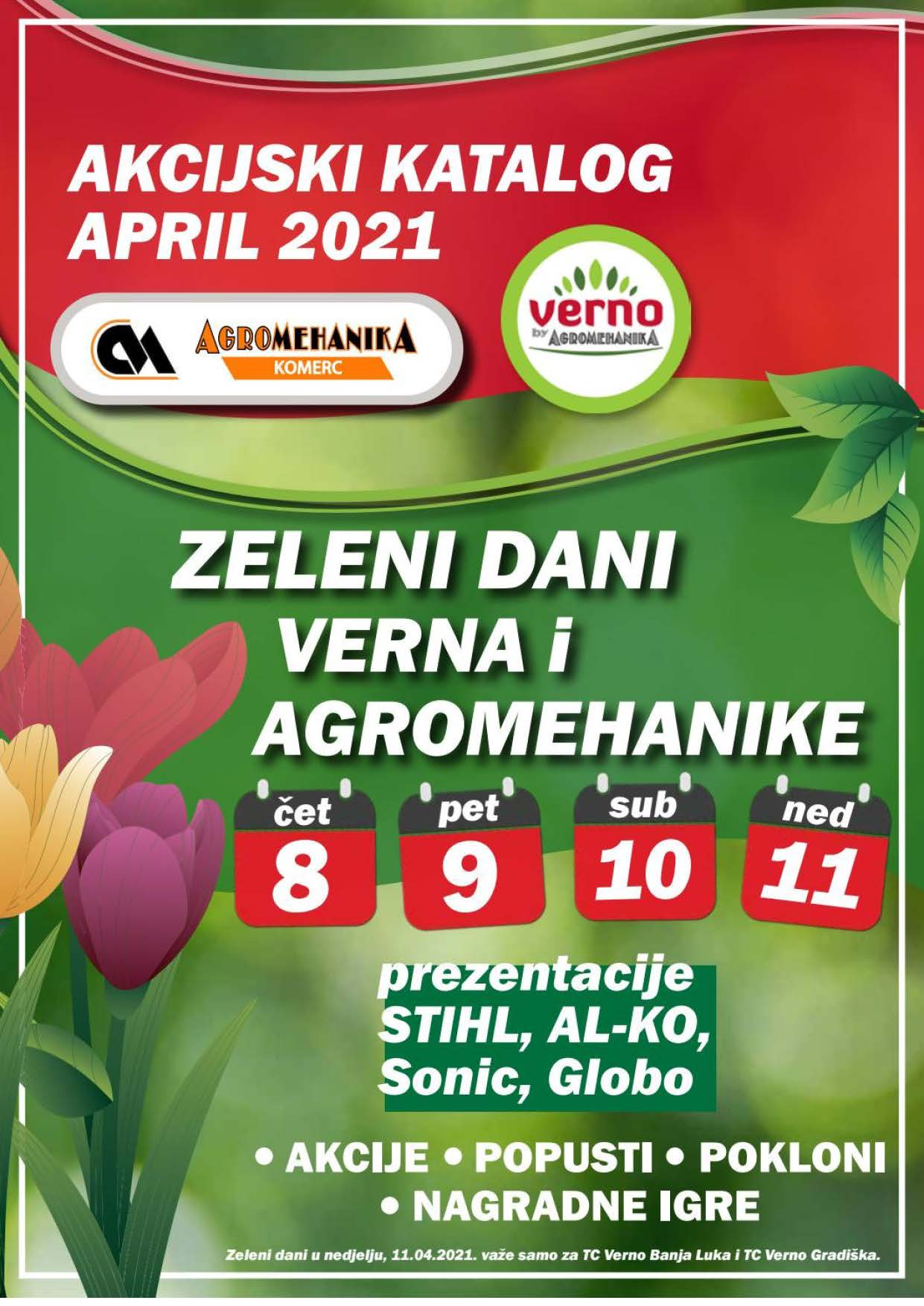 VERNO AGROMEHANIKA Akcijski Katalog APRIL 2021 ekatalozi.com Page 01