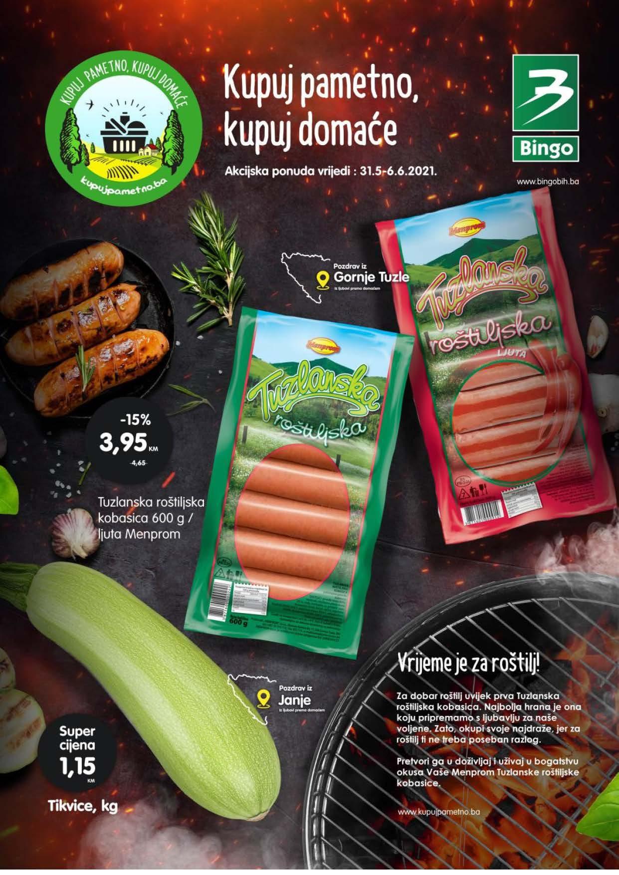 BINGO Katalog AKCIJA Kupuj pametno kupuj domace JUN 2021 31.05.2021. 06.06.2021. eKatalozi.com PR Page 1