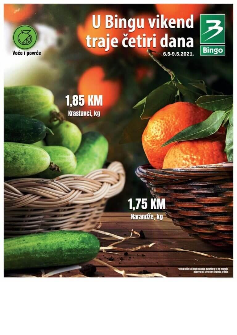 BINGO Katalog U BINGU Vikend traje cetiri dana 06.05.2021. 09.05.2021. Page 1