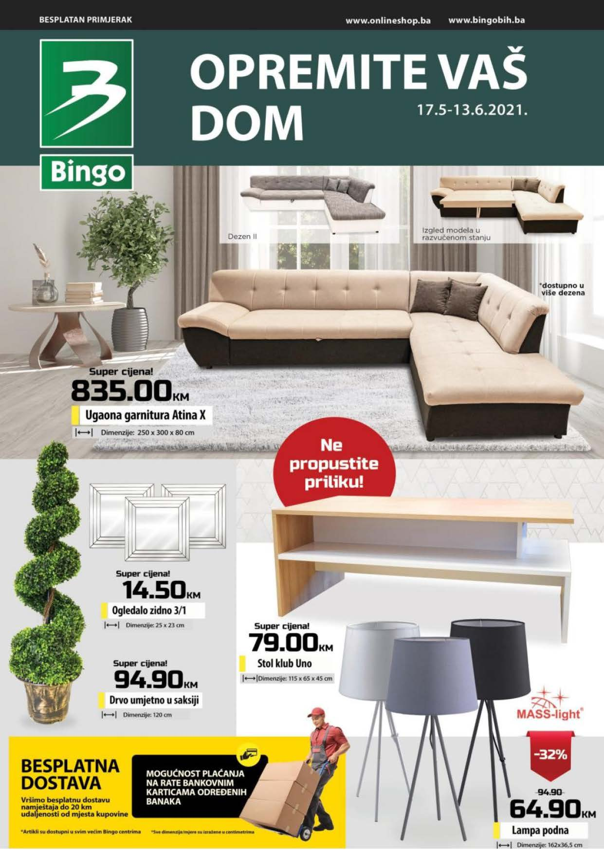 BINGO katalog Opremite VAS dom MAJ 2021 17.05.2021. 13.06.2021. Page 01