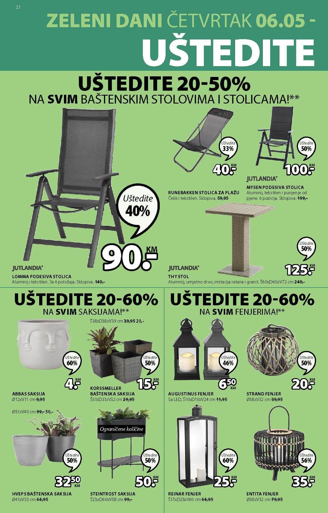 JYSK Katalog AKCIJA MAJ 2021 06.05.2021. 19.05.2021. Page 23