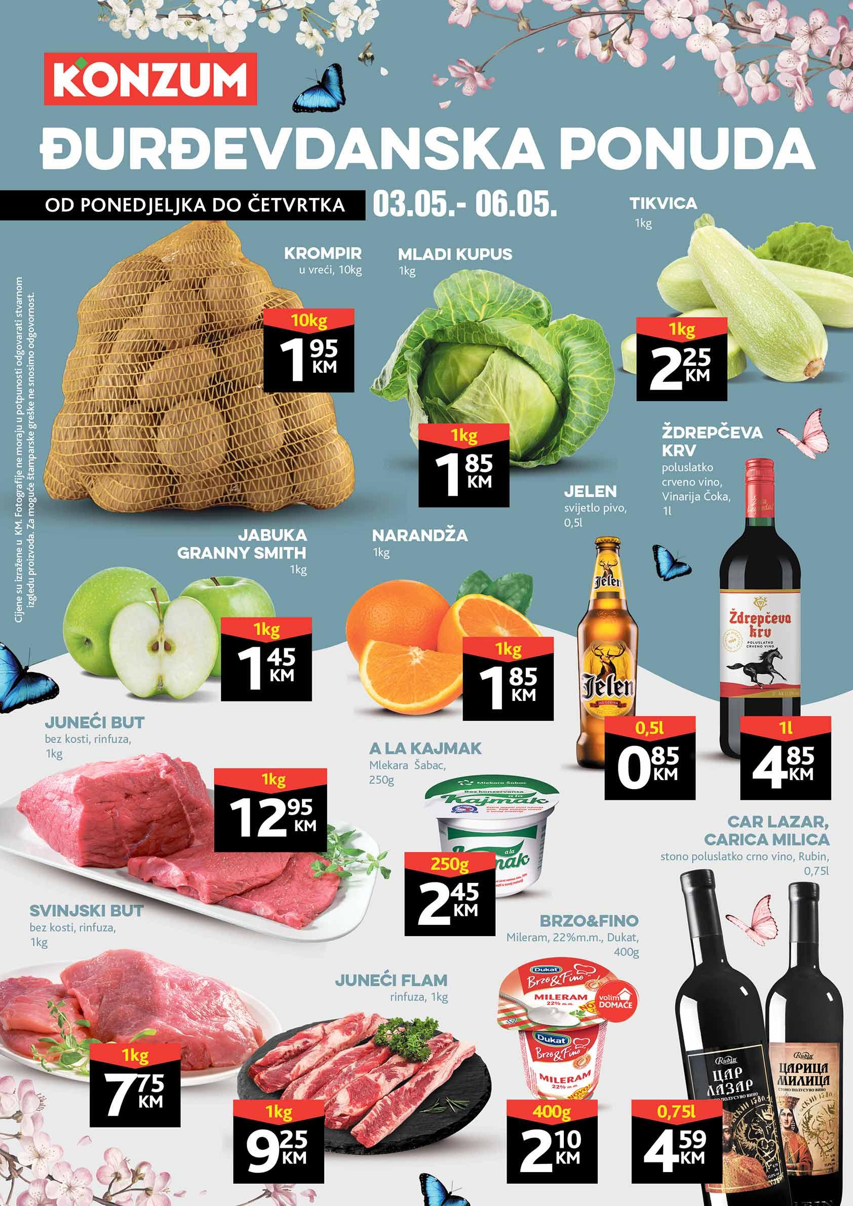 KONZUM Katalog DJurdjevdanska ponuda MAJ 2021 03.05.2021. 05.05.2021.