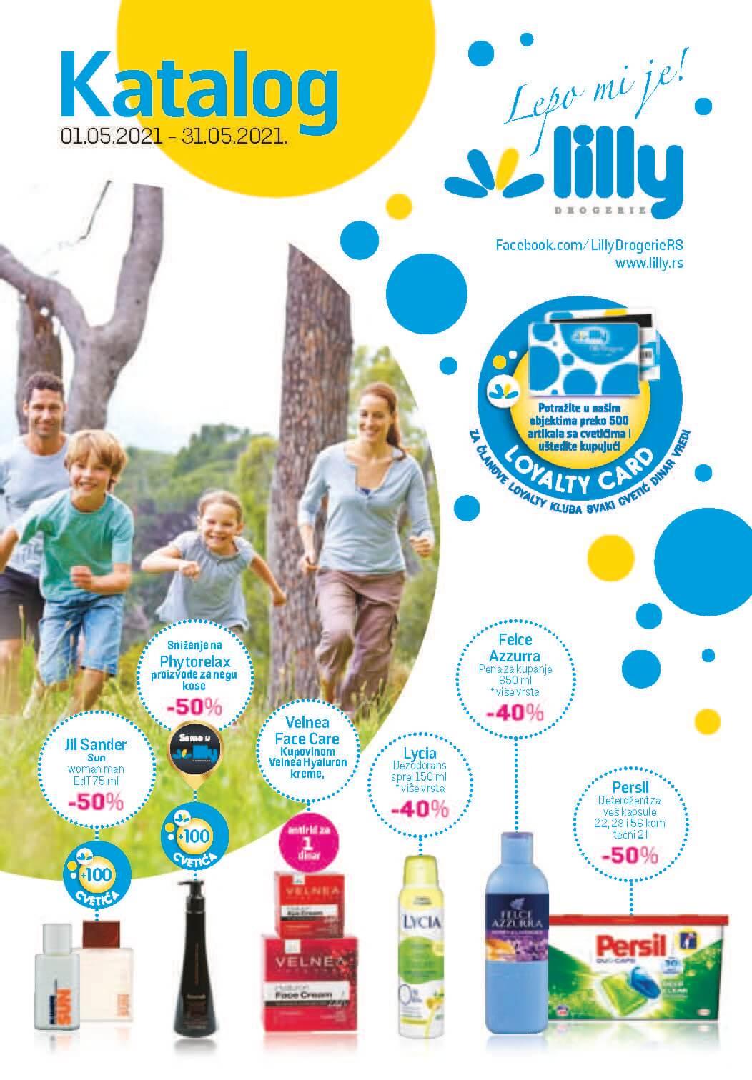 LILLY katalog LILLY ONLINE Akcija MAJ 2021 01.05.2021. 31.05.2021. Page 01