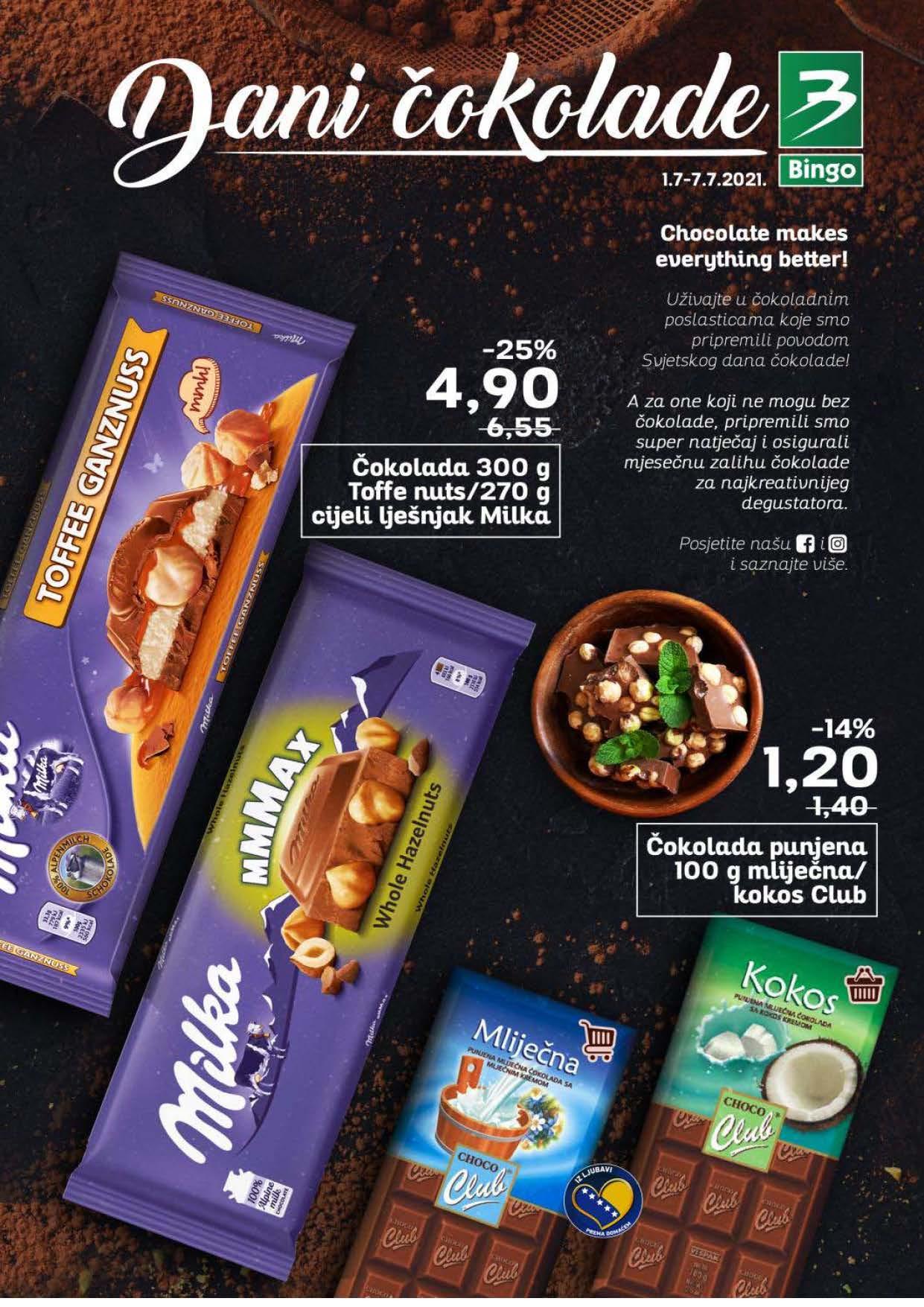 BINGO Katalog Dani cokolade JUL 2021 1.7.2021. 7.7.2021. Page 1