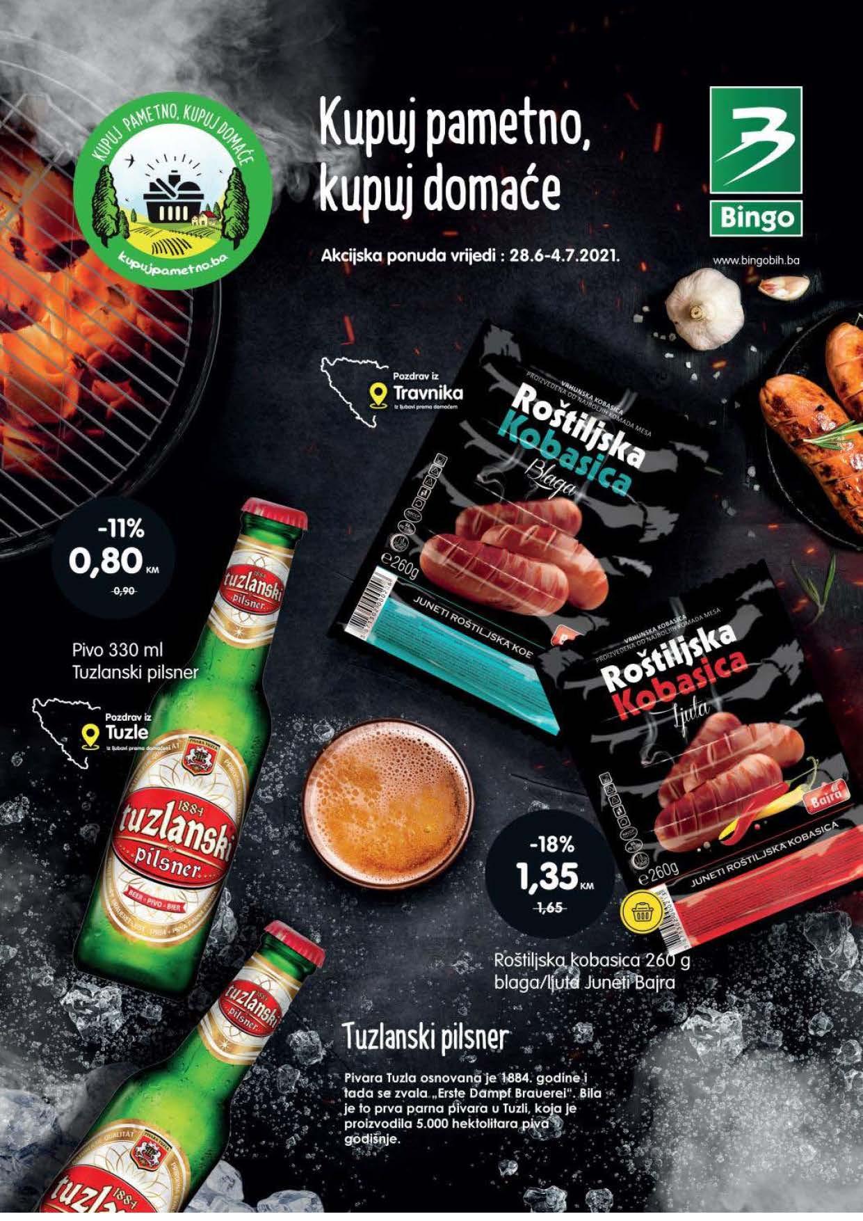 BINGO Katalog Kupuj pametno kupuj domace JUN JUL 2021 28.6.2021. 4.7.2021. Page 1 1