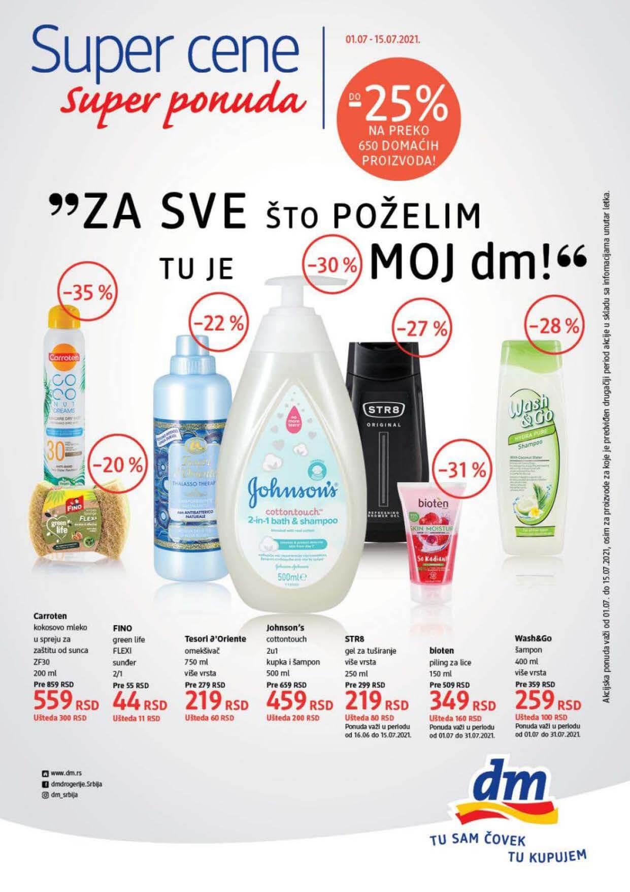 DM Katalog Srbija Super cene Super Ponuda JUL 2021 01.07. 15.07.2021. Page 1