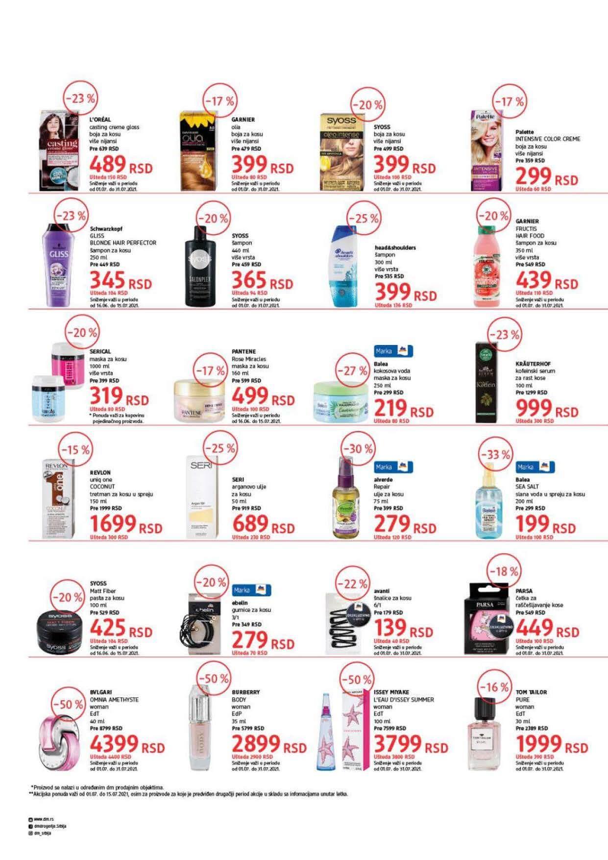 DM Katalog Srbija Super cene Super Ponuda JUL 2021 01.07. 15.07.2021. Page 2