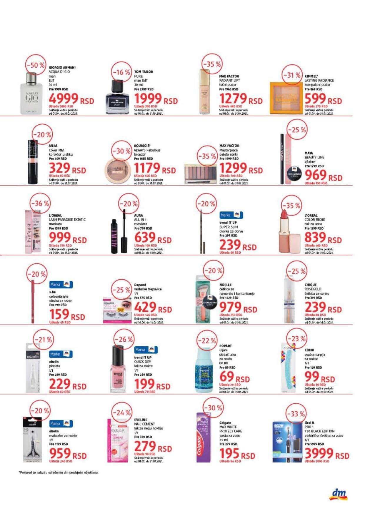 DM Katalog Srbija Super cene Super Ponuda JUL 2021 01.07. 15.07.2021. Page 3