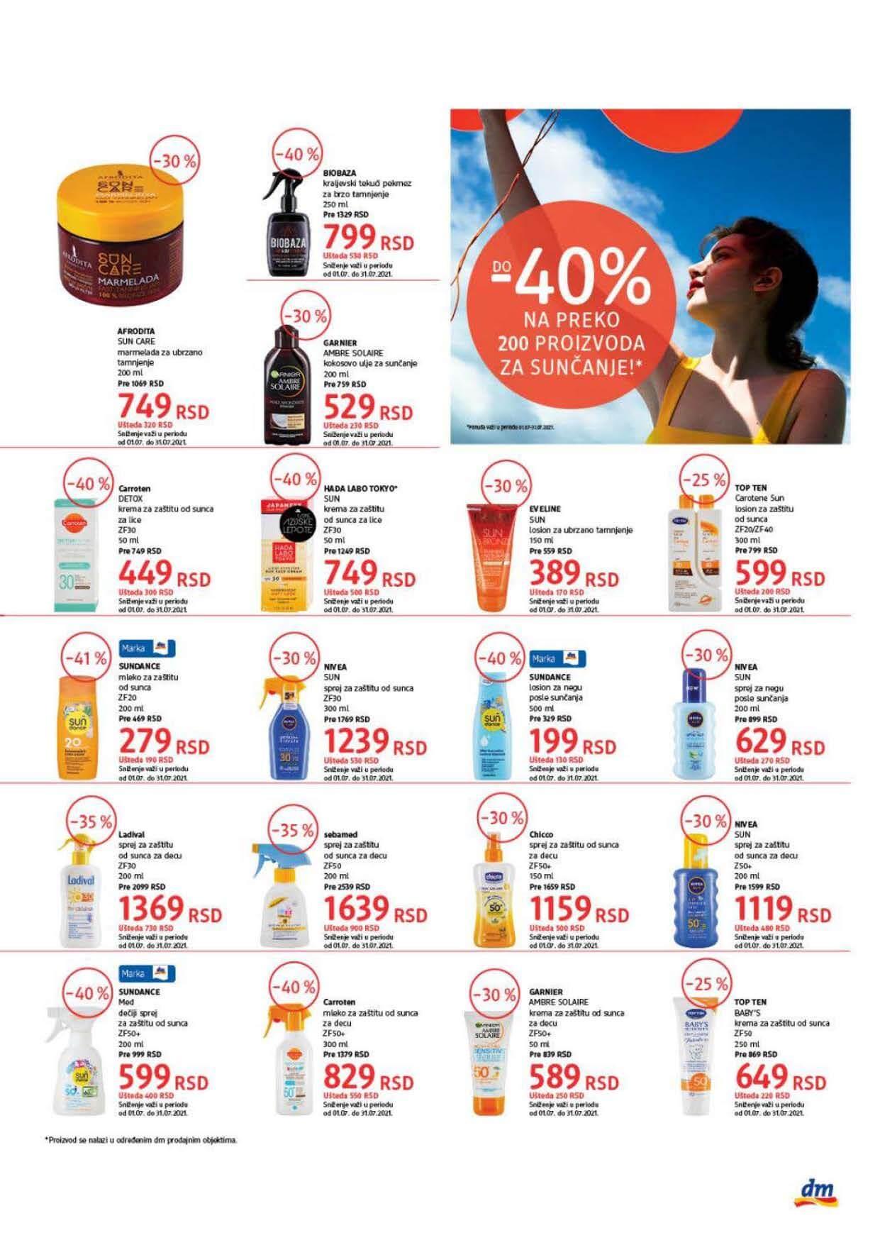 DM Katalog Srbija Super cene Super Ponuda JUL 2021 01.07. 15.07.2021. Page 5
