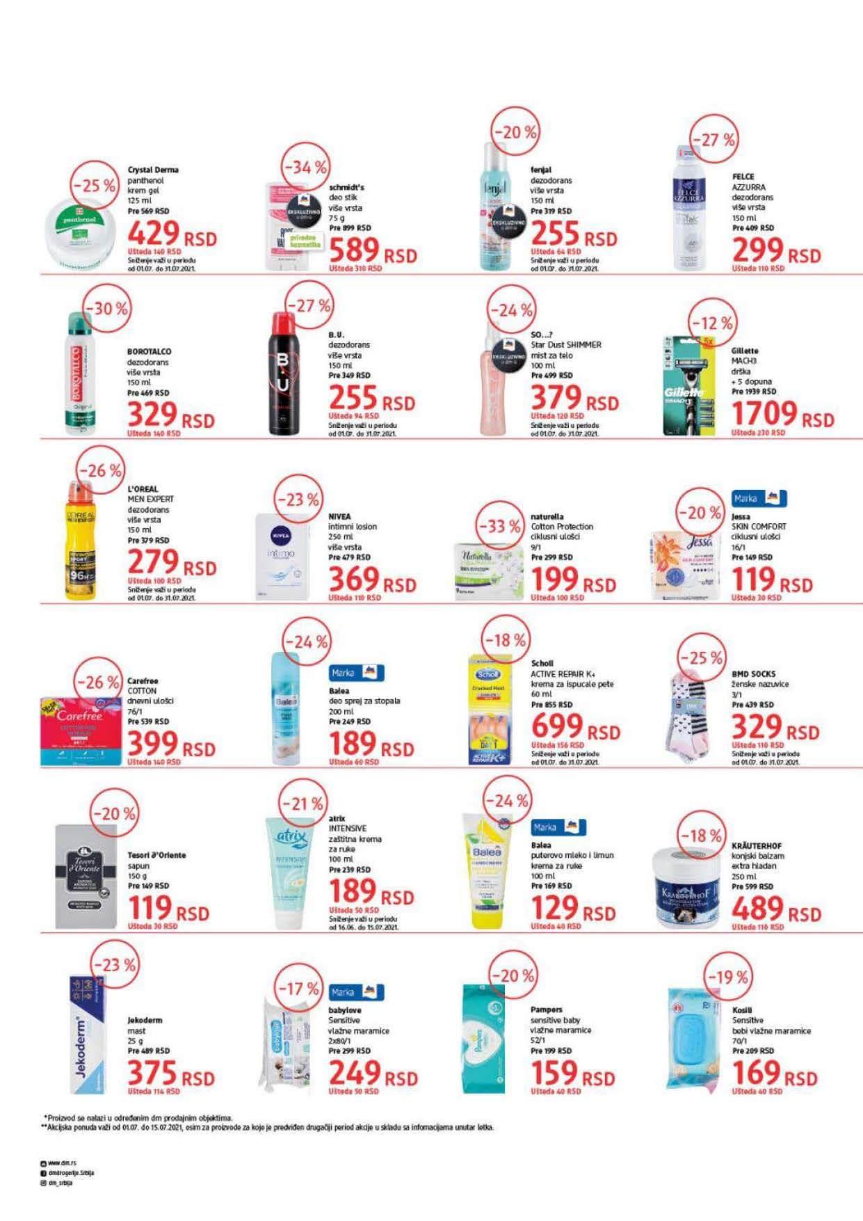 DM Katalog Srbija Super cene Super Ponuda JUL 2021 01.07. 15.07.2021. Page 6