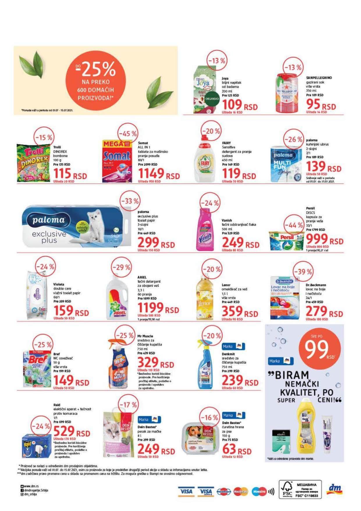 DM Katalog Srbija Super cene Super Ponuda JUL 2021 01.07. 15.07.2021. Page 8