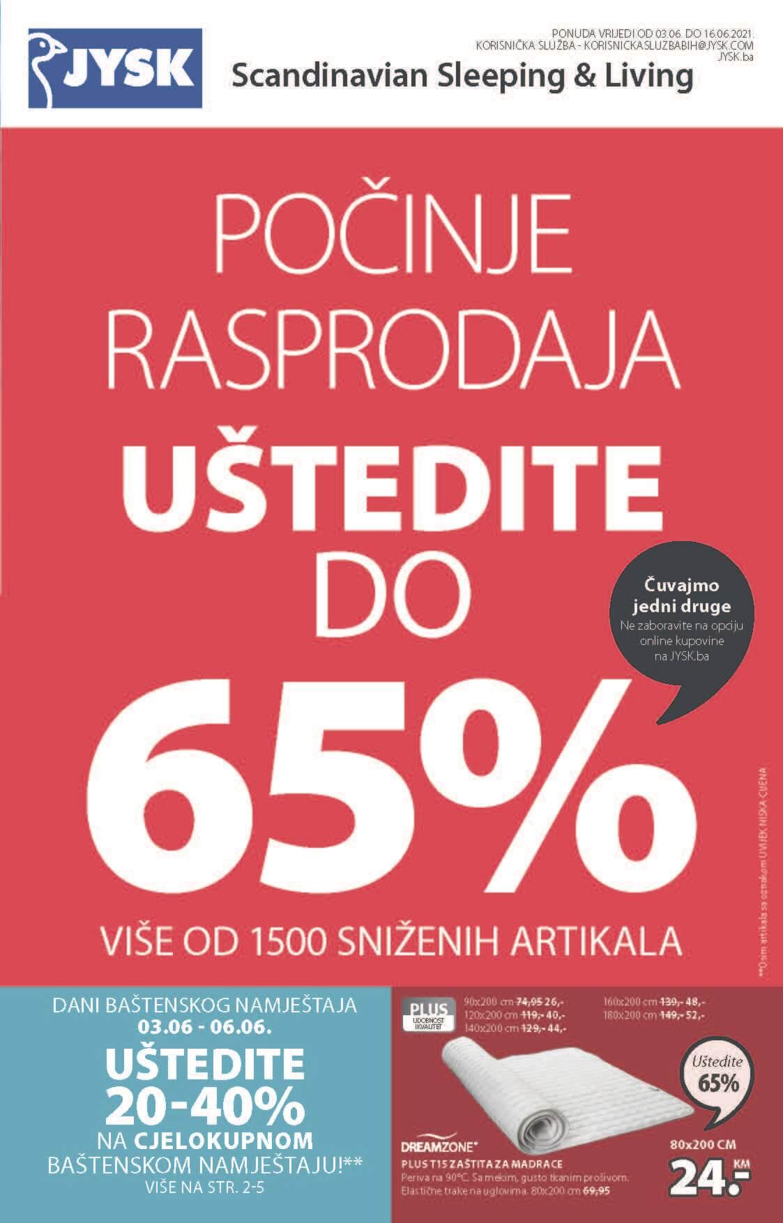 JYSK Katalog Akcijska rasprodaja JUN 2021 03.06. 16.06 eKatalozi.com PR Page 02