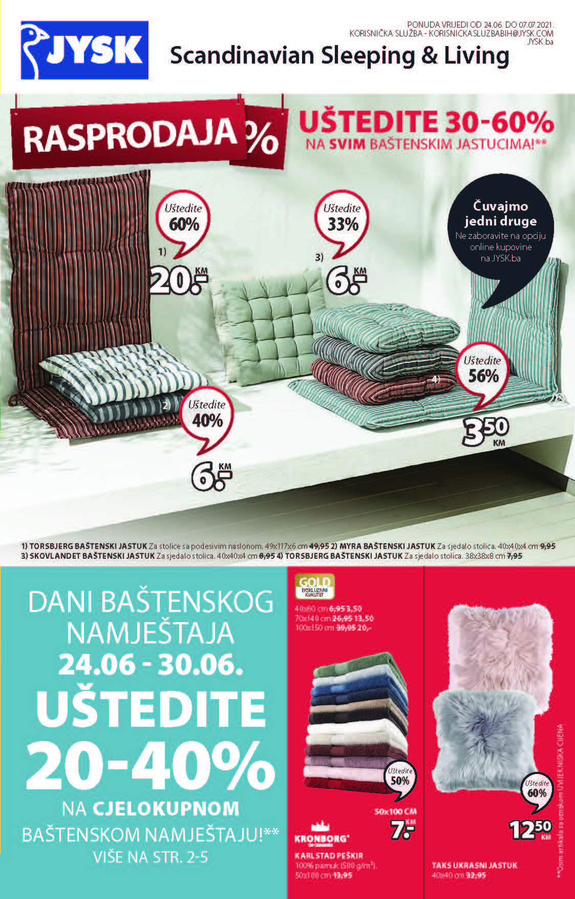 JYSK Katalog Akcijska rasprodaja JUN JUL 2021 24.6. 7.7. Page 02 1