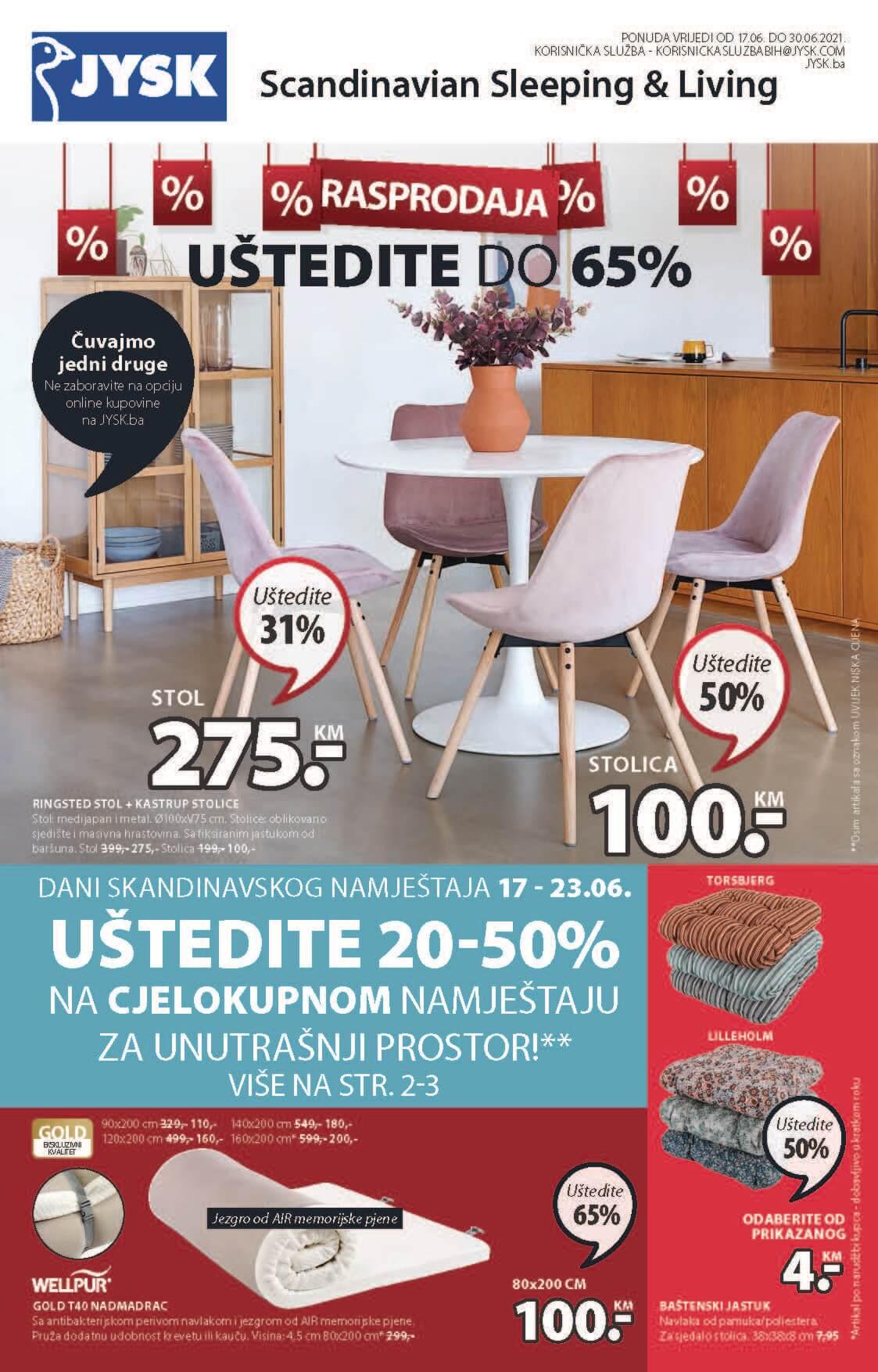 JYSK Katalog Ljetna RASPRODAJA JUN 2021 17.6. 30.6. ekatalozi.com PR Page 02 1