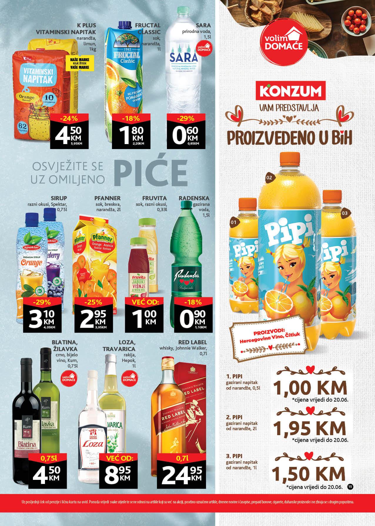 KONZUM Katalog Redovni katalog JUN 2021 07.06. 17.06. eKatalozi.com PR Page 15