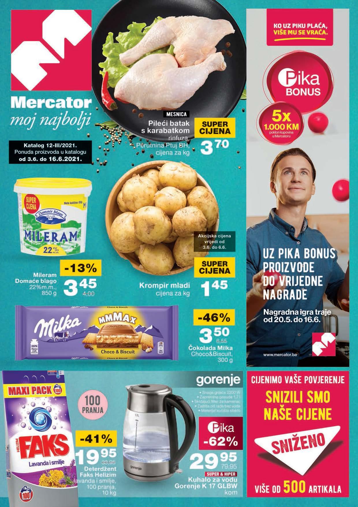 MERCATOR Katalog Redovni katalog JUN 2021 3.6. 16.6. eKatalozi.com Page 01 1