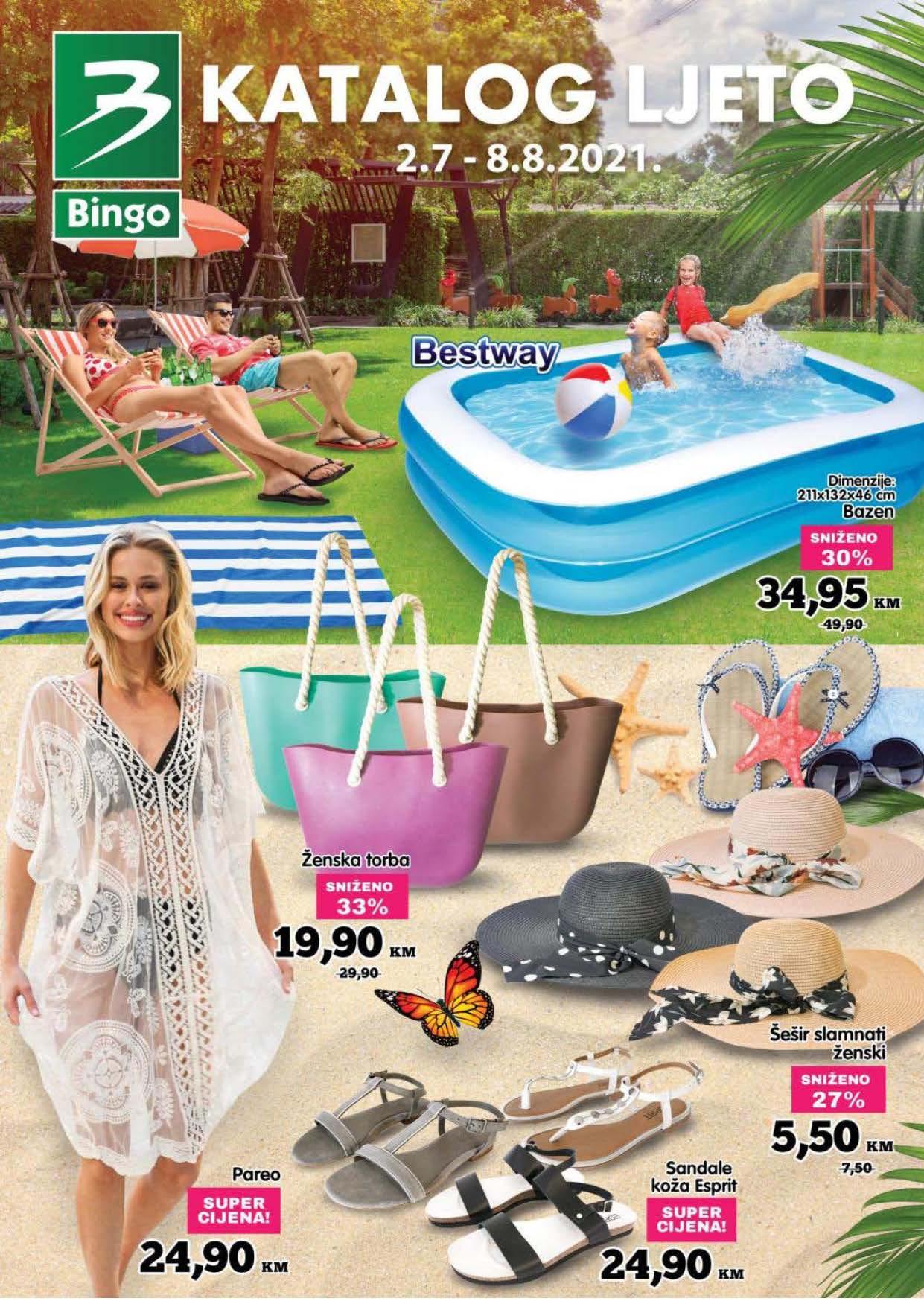 BINGO Katalog Velika akcija LJETO JUL 2021 2.7.2021. 8.8.2021. ekatalozi.com Page 01