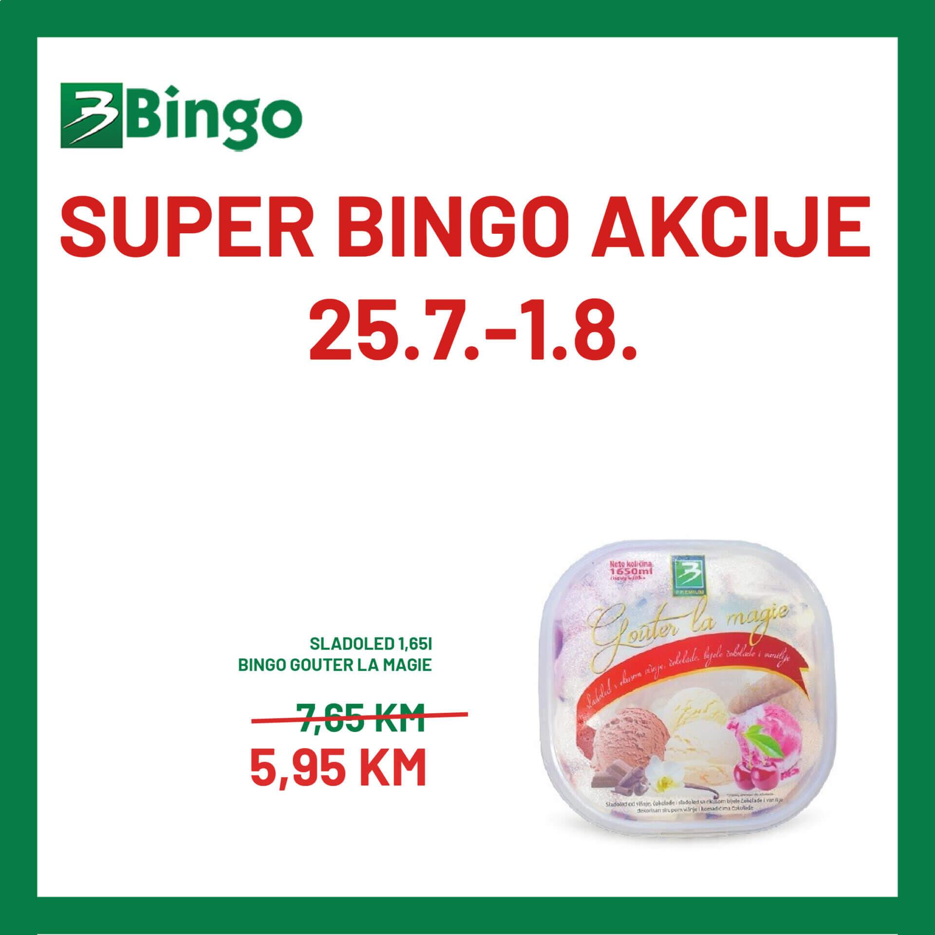 BINGO akcija 25.7. 1.8 03