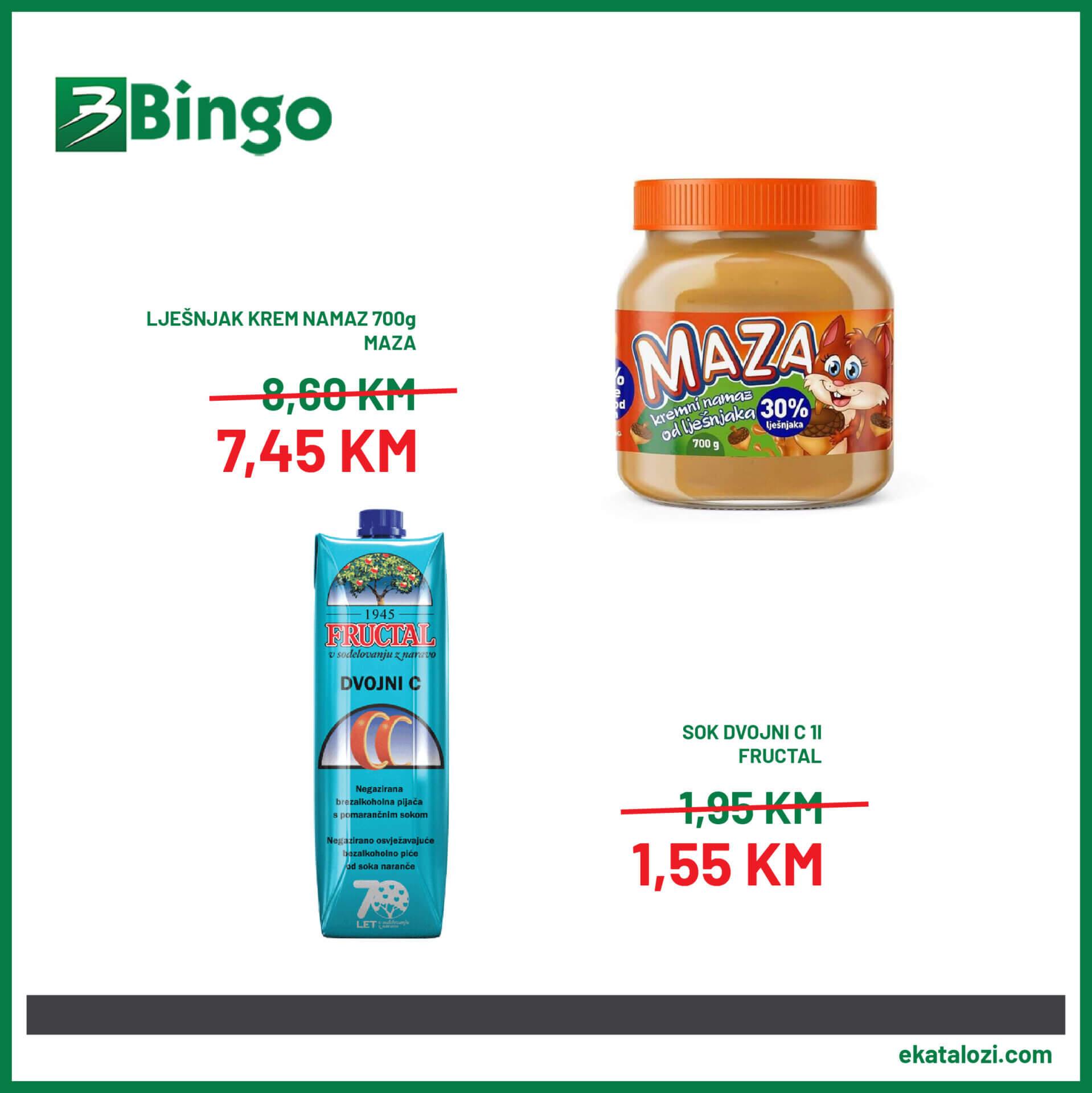 BINGO akcija 27.7. 1.8. 03