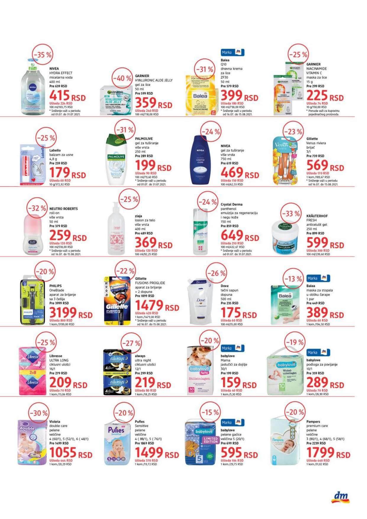 DM Katalog Srbija Super cene Super ponuda JUL 2021 16.7.2021. 31.7.2021. Page 3