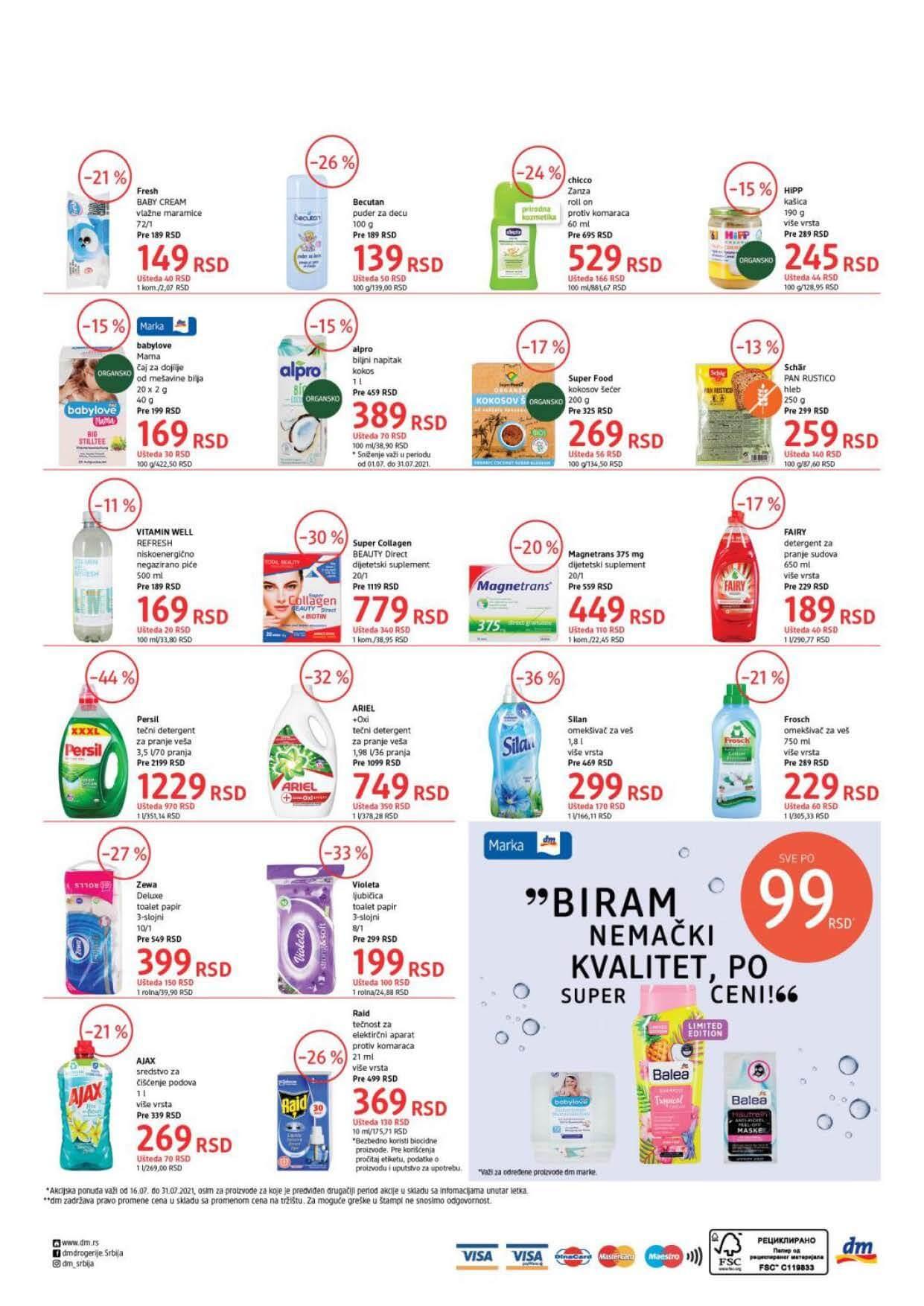 DM Katalog Srbija Super cene Super ponuda JUL 2021 16.7.2021. 31.7.2021. Page 4