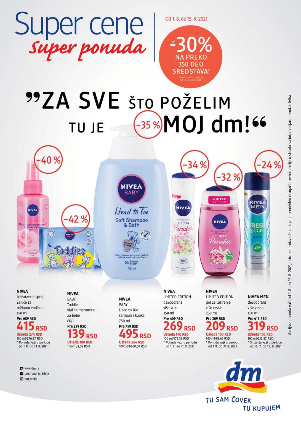 DM Srbija SUPER CENE Avgust 2021 1.8.2021. 15.8.2021. Page 1 1