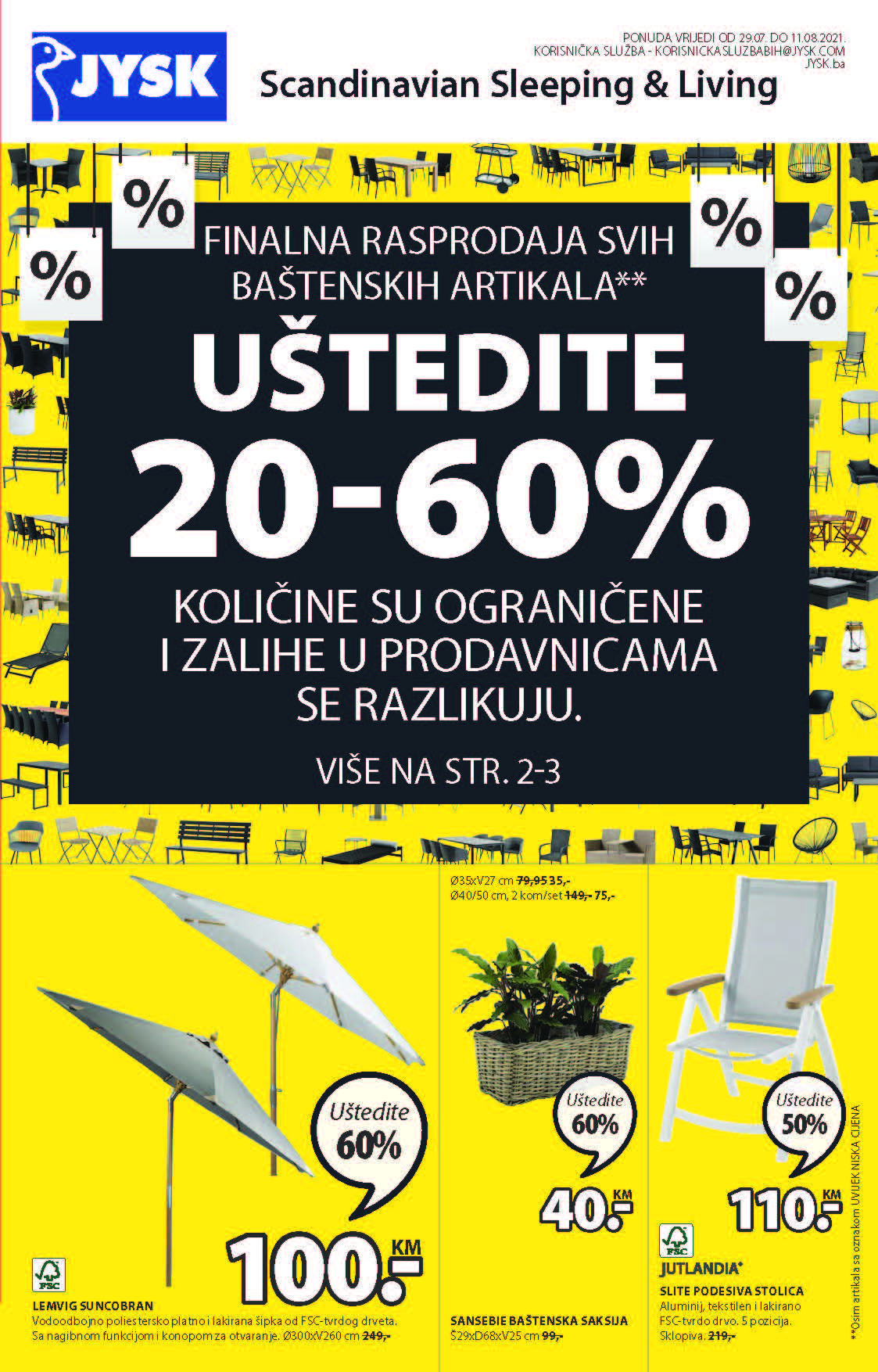 JYSK Katalog Akcijska rasprodaja AVGUST 2021 29.7.2021. 11.8.2021. Page 02 1